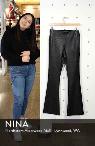 Faux Leather Flare Pants, sales video thumbnail