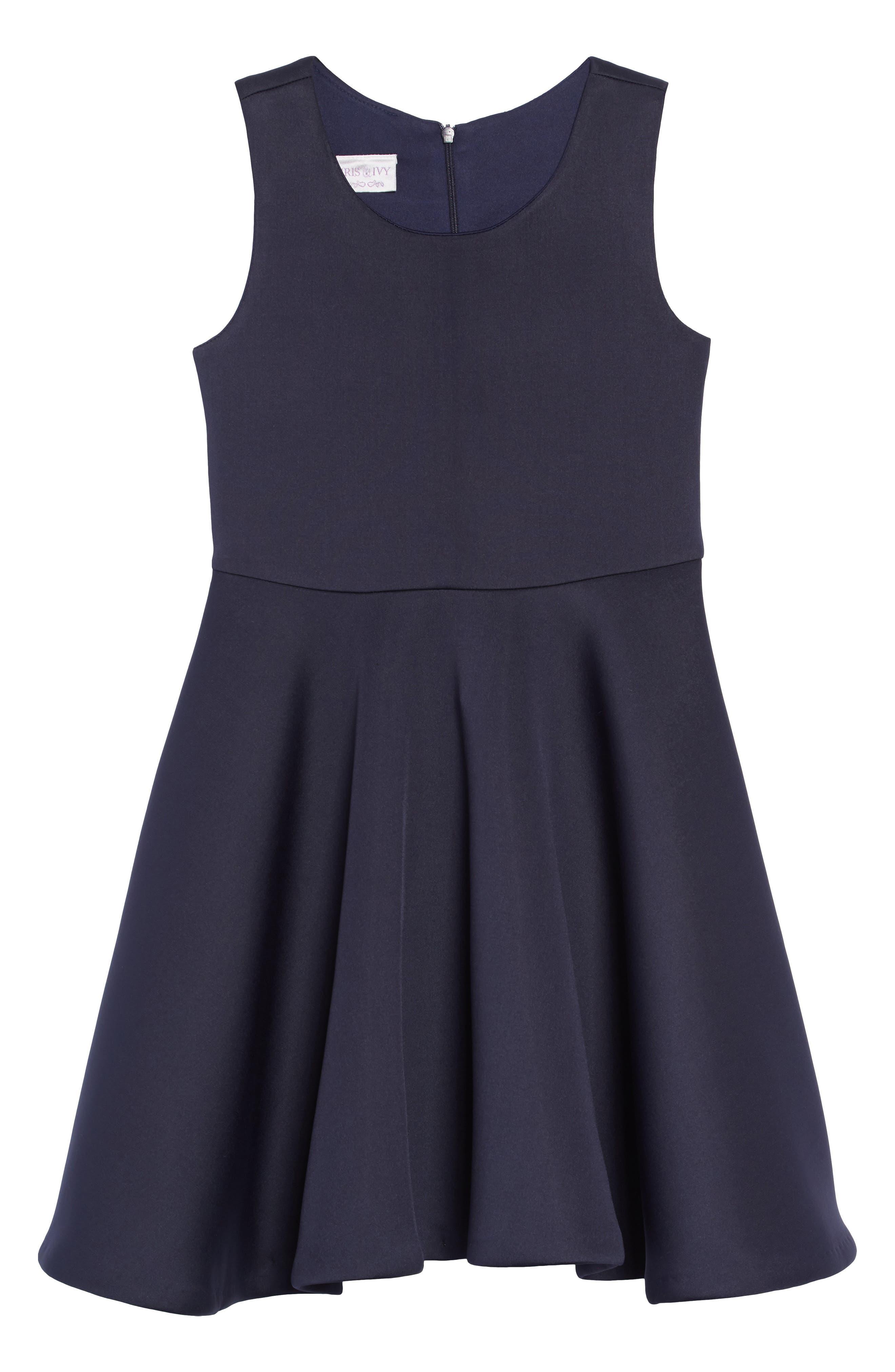 Scuba Tank Dress,                             Main thumbnail 1, color,                             NAVY