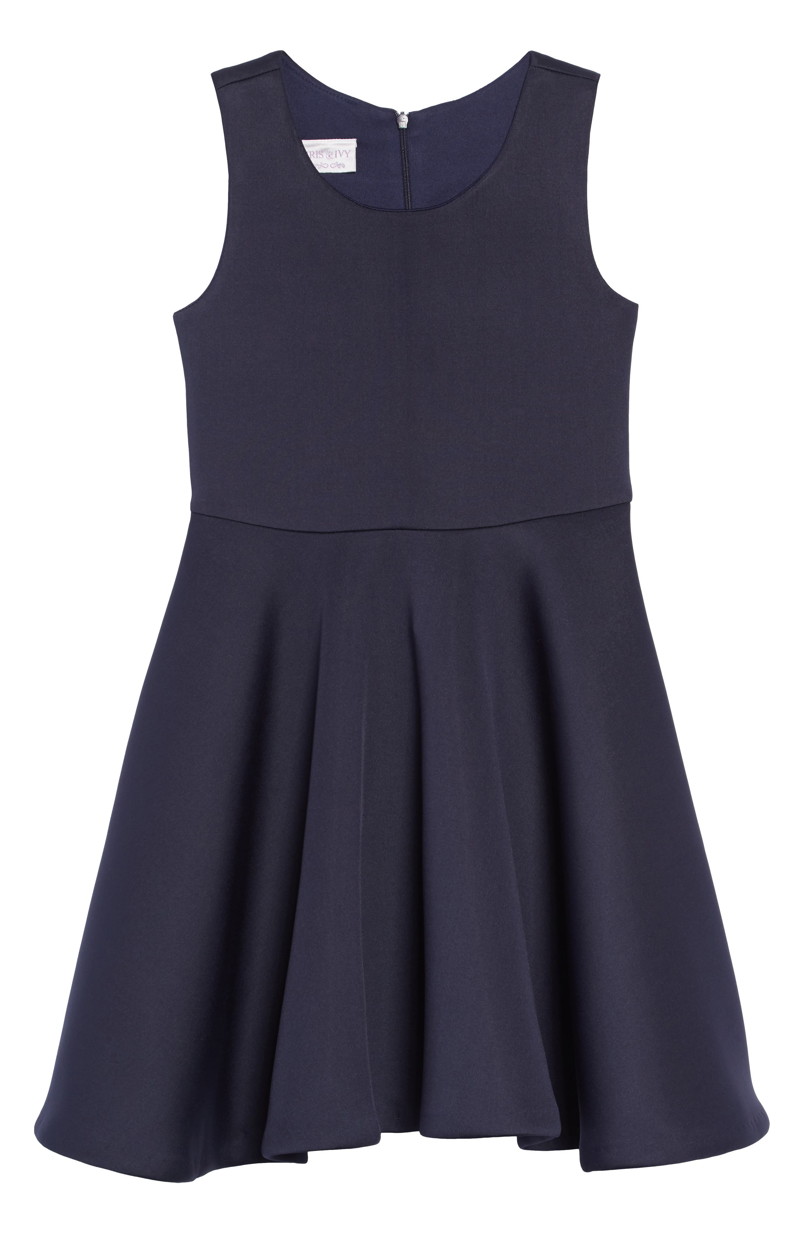 Scuba Tank Dress,                         Main,                         color, NAVY