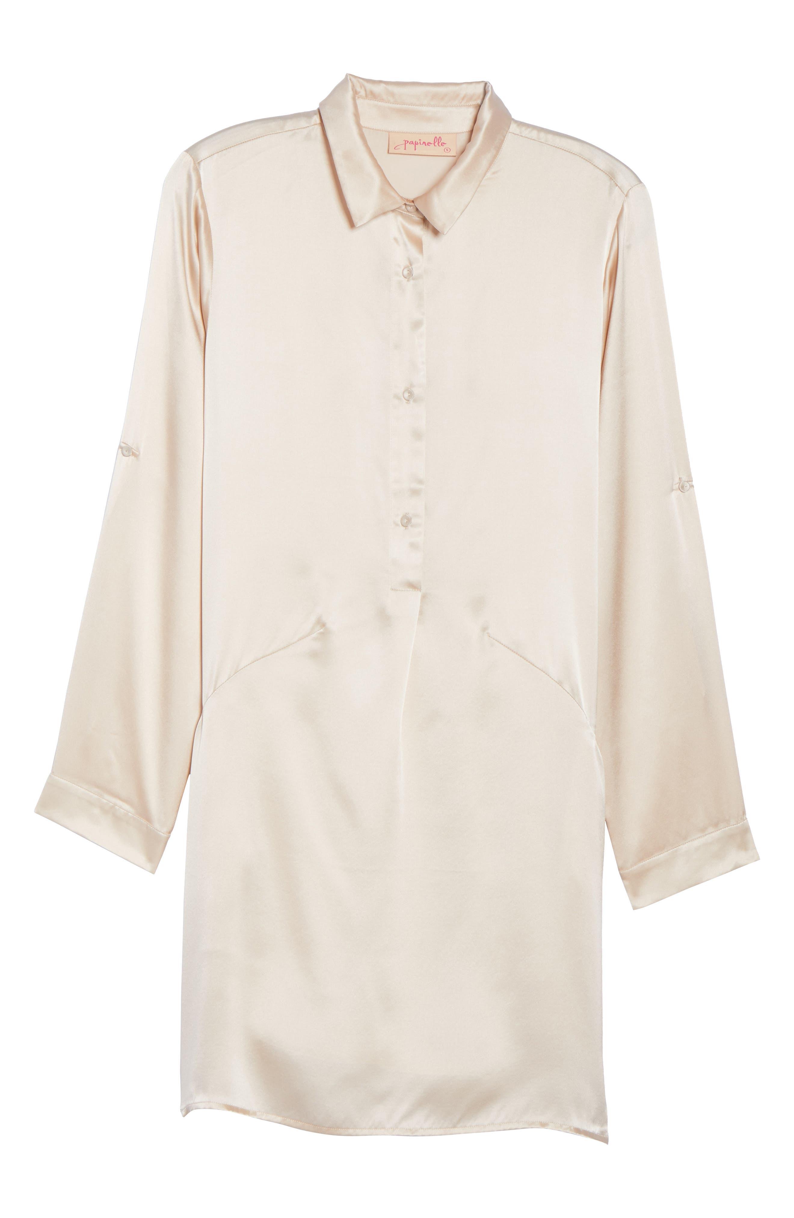 Silk Sleep Shirt,                             Alternate thumbnail 6, color,                             900