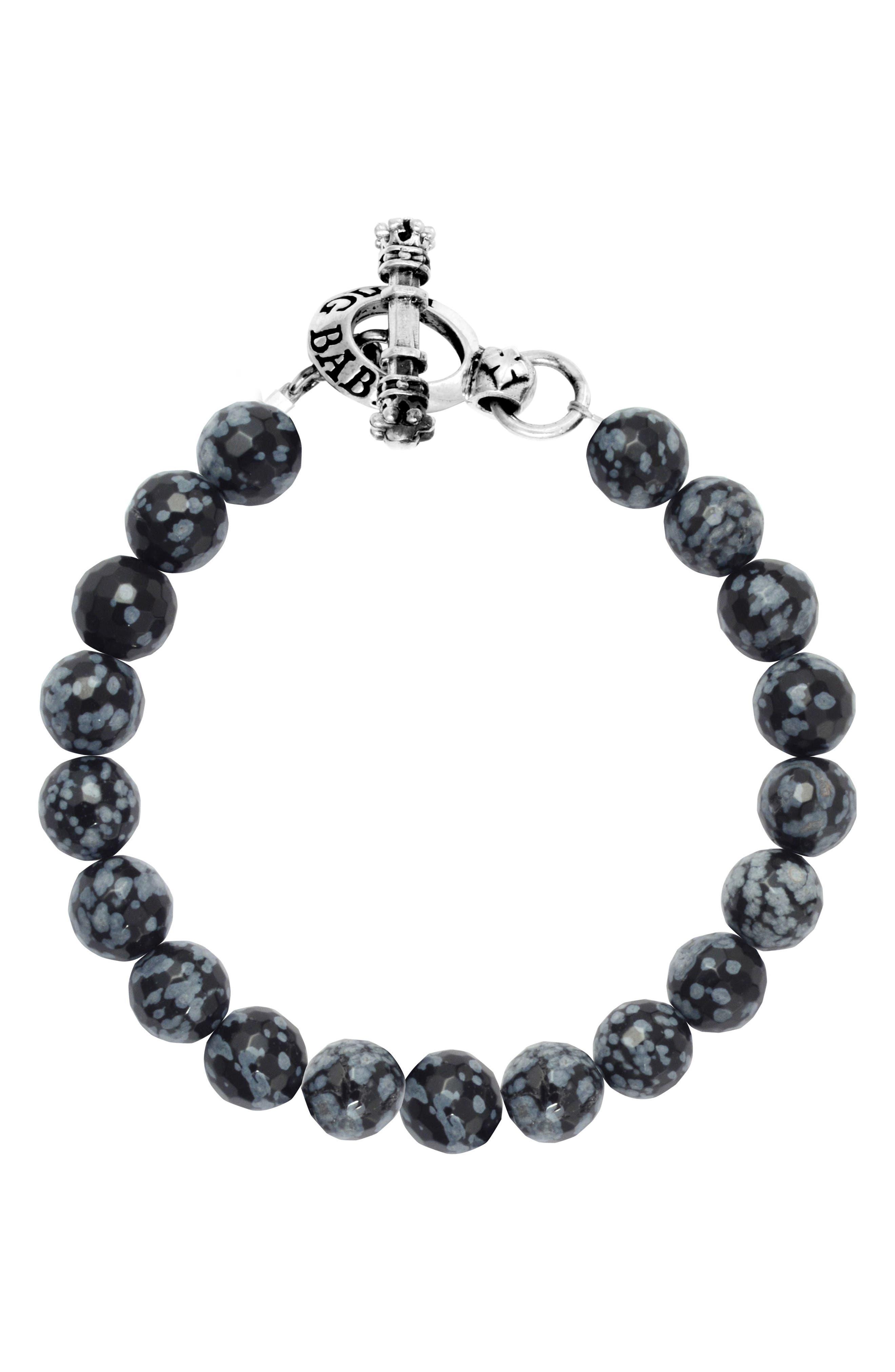 Agate Bead Bracelet,                         Main,                         color, 041