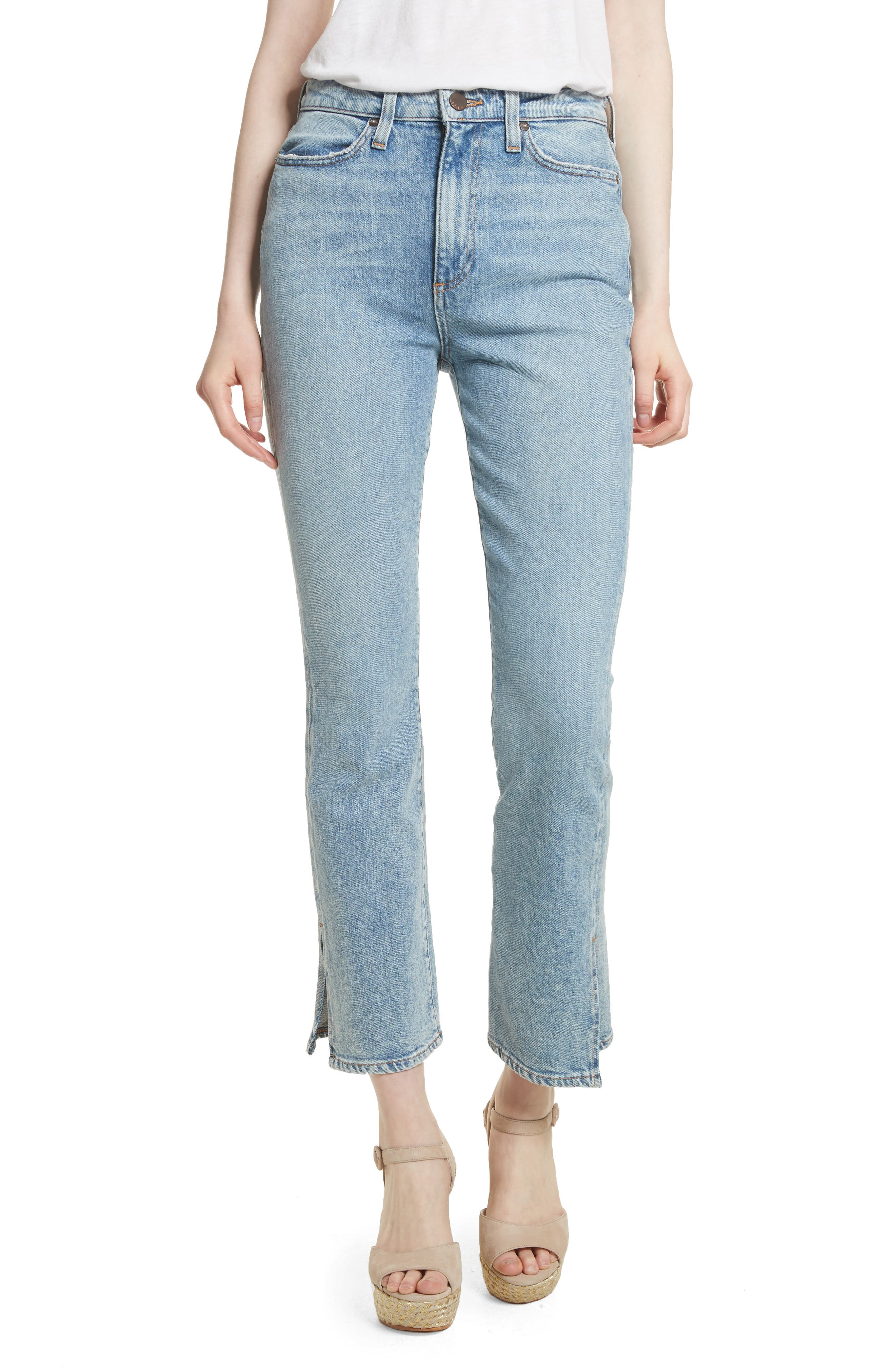 AO.LA Fabulous High Waist Baby Bootcut Jeans,                             Main thumbnail 1, color,
