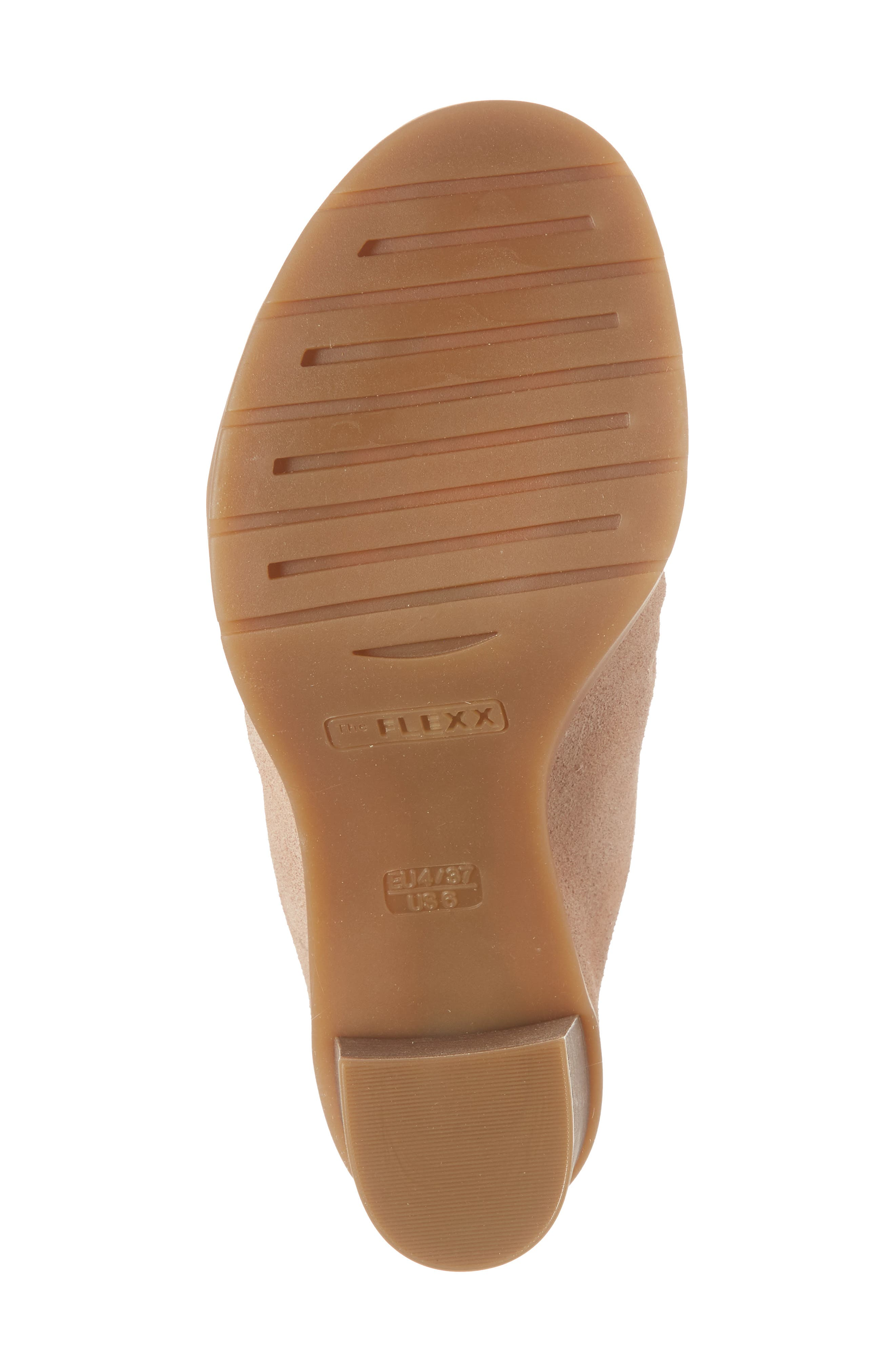 Aim to Pleat Mule,                             Alternate thumbnail 6, color,                             ROSE GOLD LEATHER