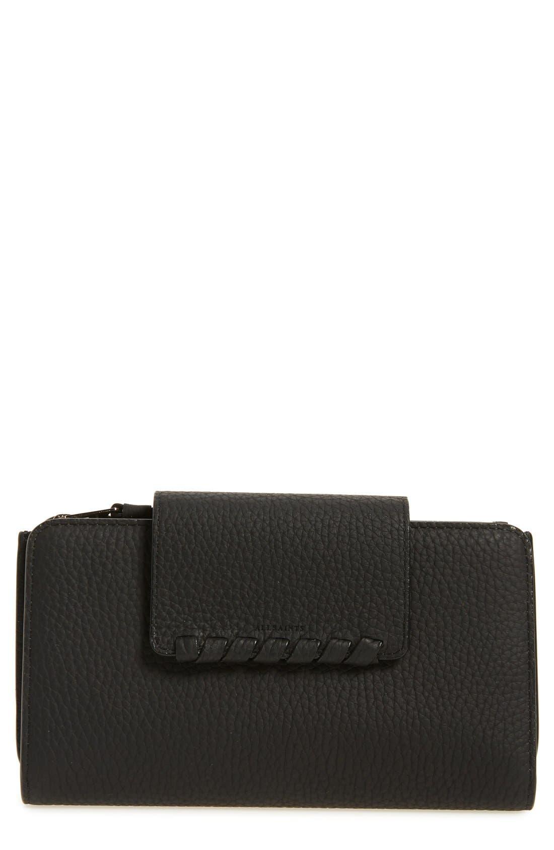Kita Japanese Leather Wallet,                             Main thumbnail 1, color,                             001