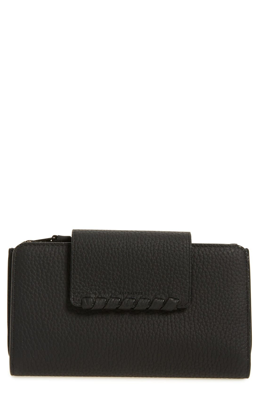 Kita Japanese Leather Wallet,                         Main,                         color, 001