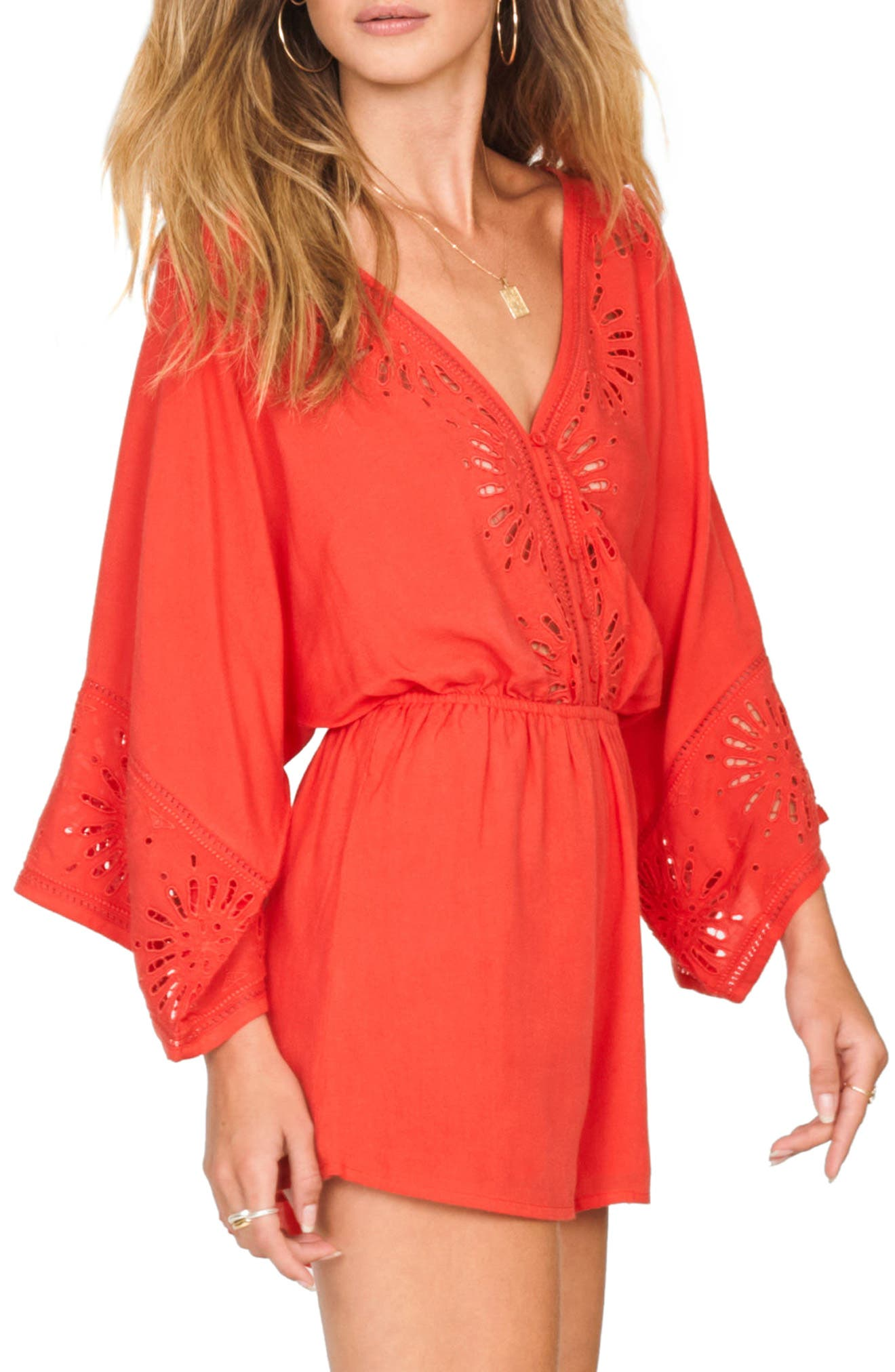 Babe Alert Romper,                             Alternate thumbnail 3, color,                             CASABLANCA