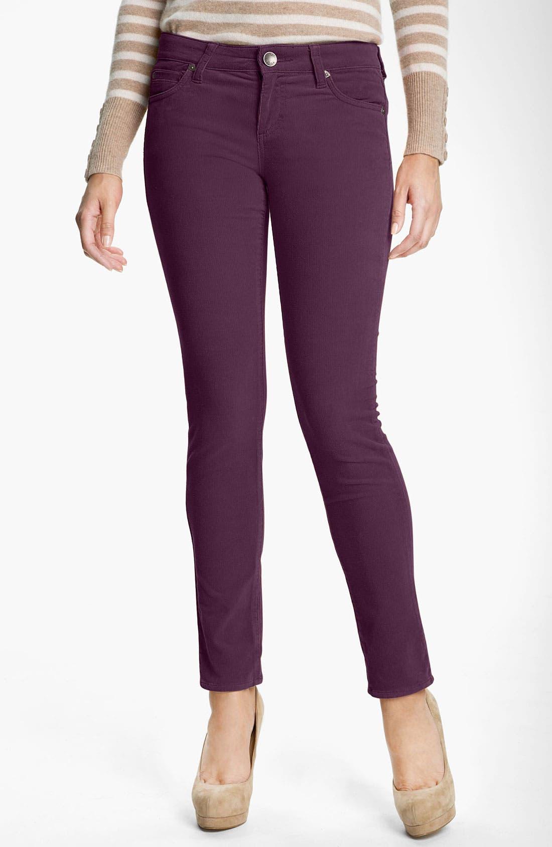 'Diana' Stretch Corduroy Skinny Pants,                             Main thumbnail 37, color,