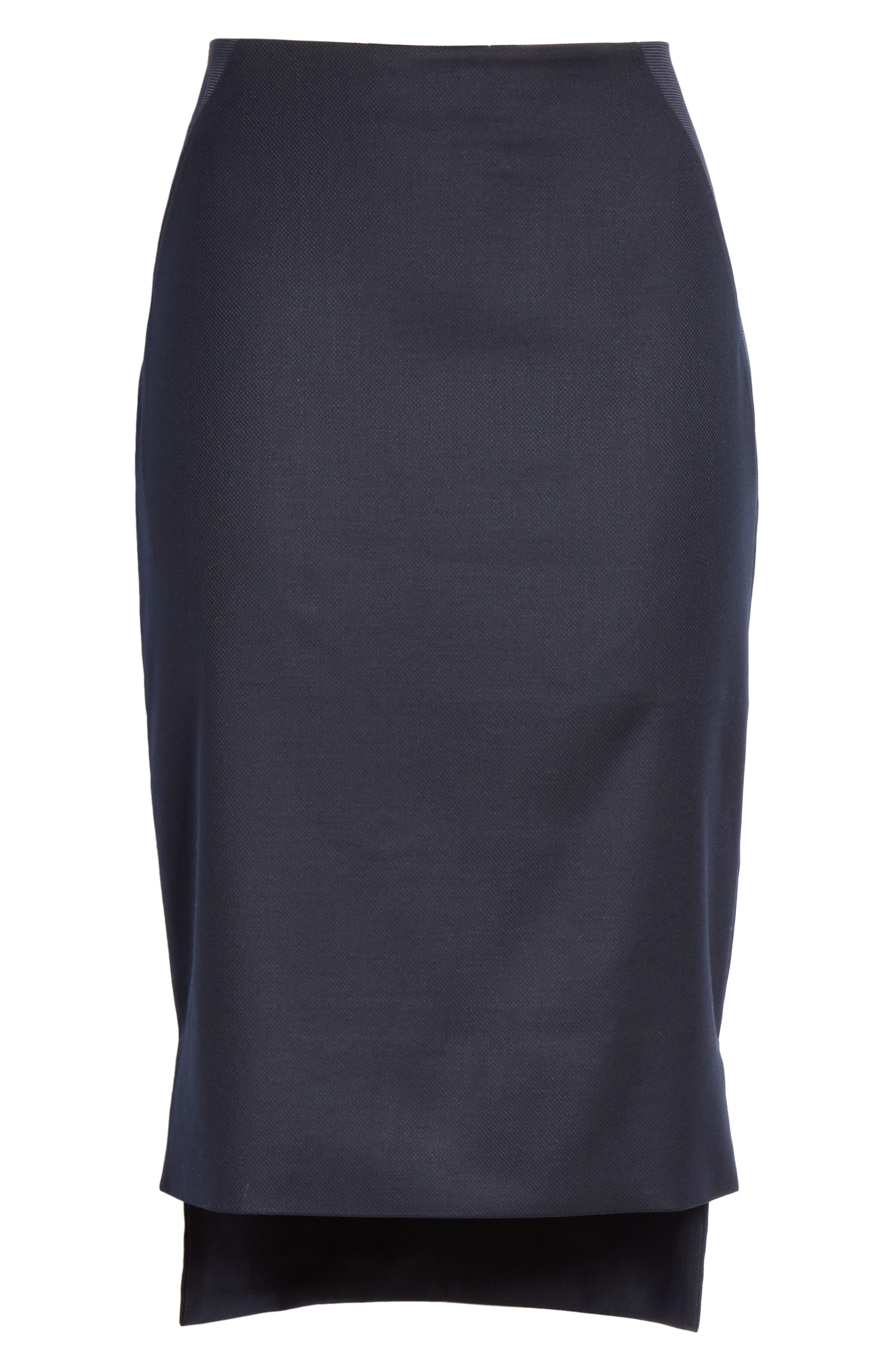 Ted Working Title Rivaas Pencil Skirt,                             Alternate thumbnail 6, color,                             DARK BLUE