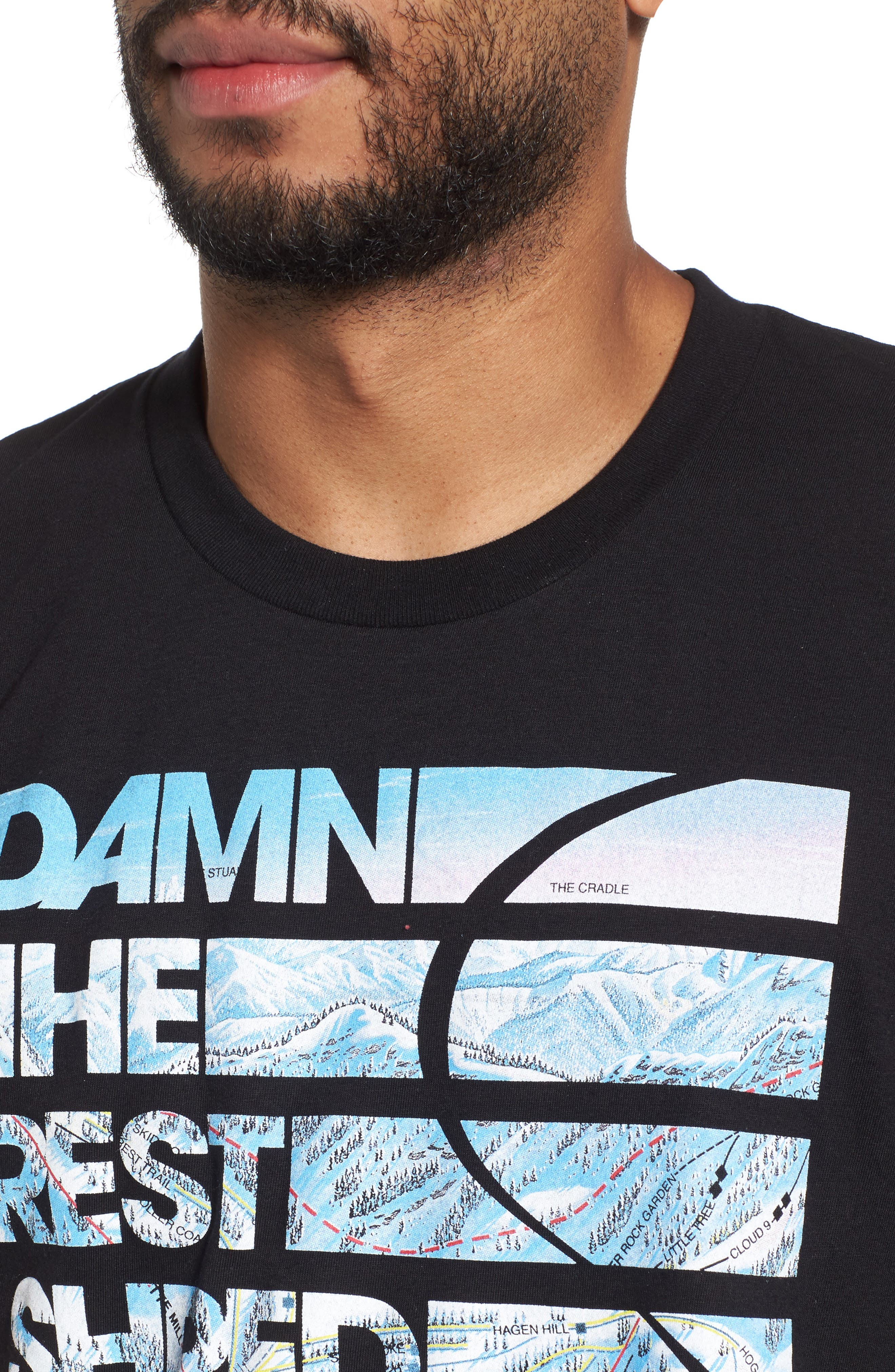 Damn the Rest Trail Map T-Shirt,                             Alternate thumbnail 4, color,                             001