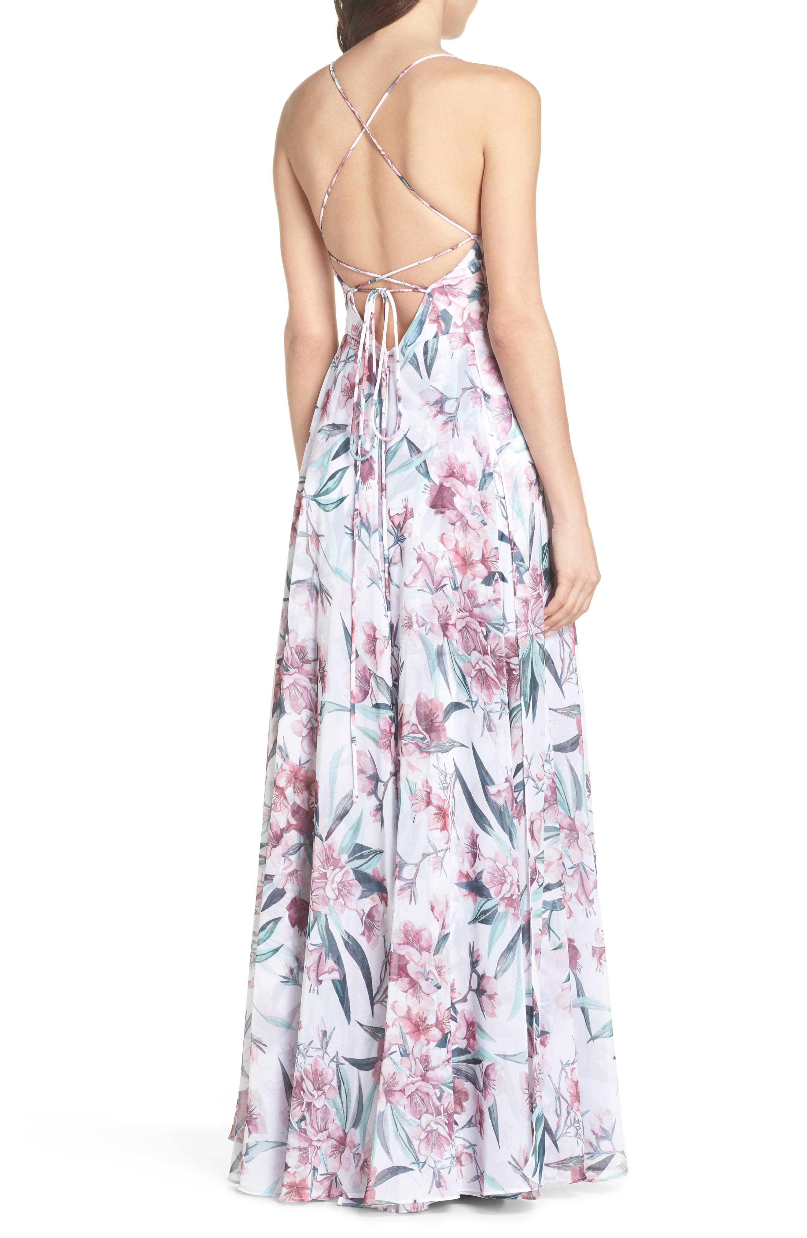 Khoo Floral Gown,                             Alternate thumbnail 2, color,                             100