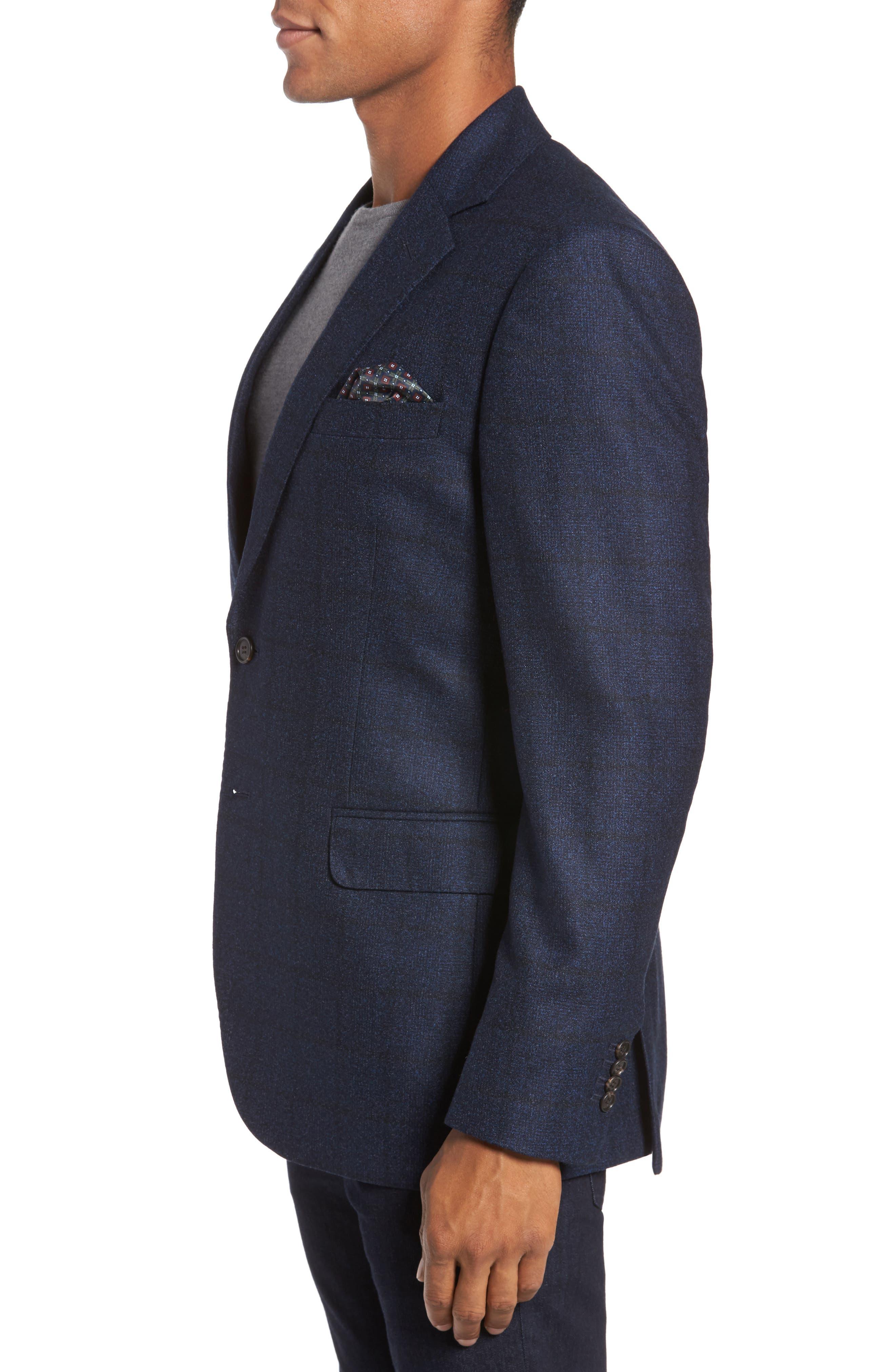 Andersen Trim Fit Plaid Wool Sport Coat,                             Alternate thumbnail 3, color,                             209