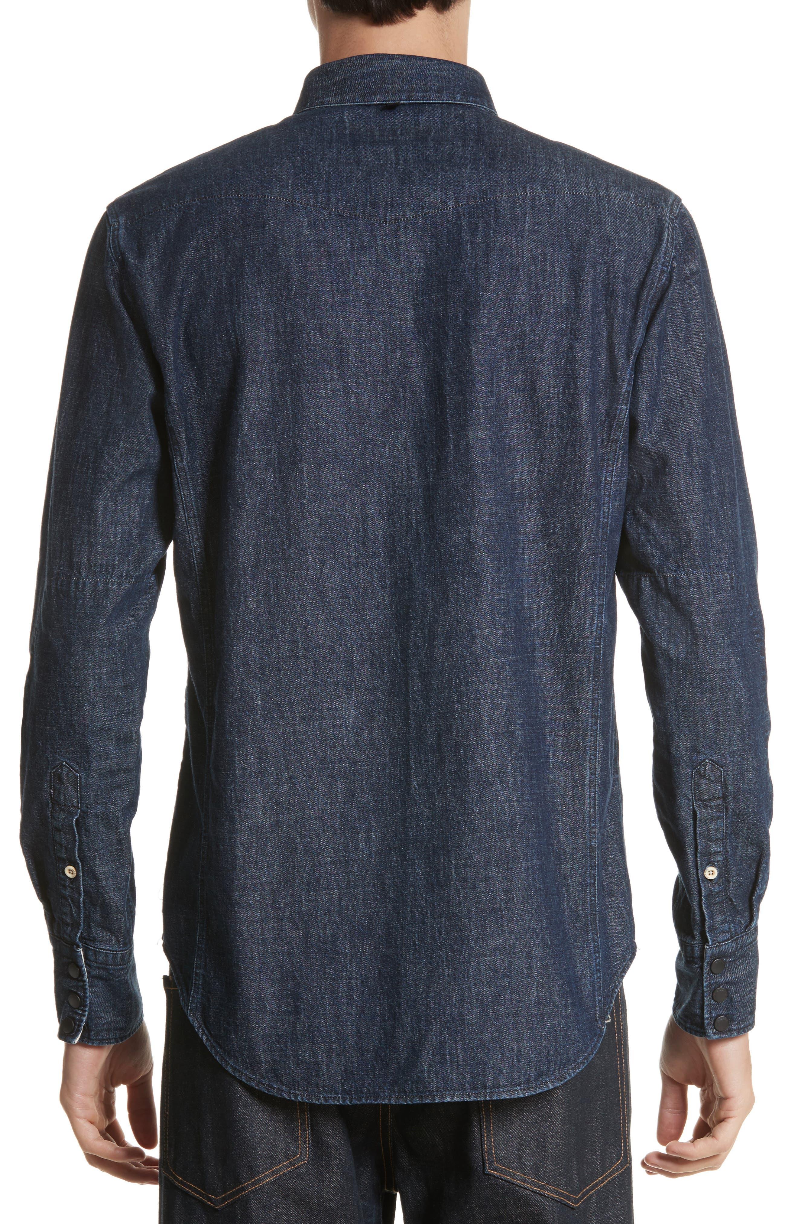 Beck Denim Shirt,                             Alternate thumbnail 3, color,                             470