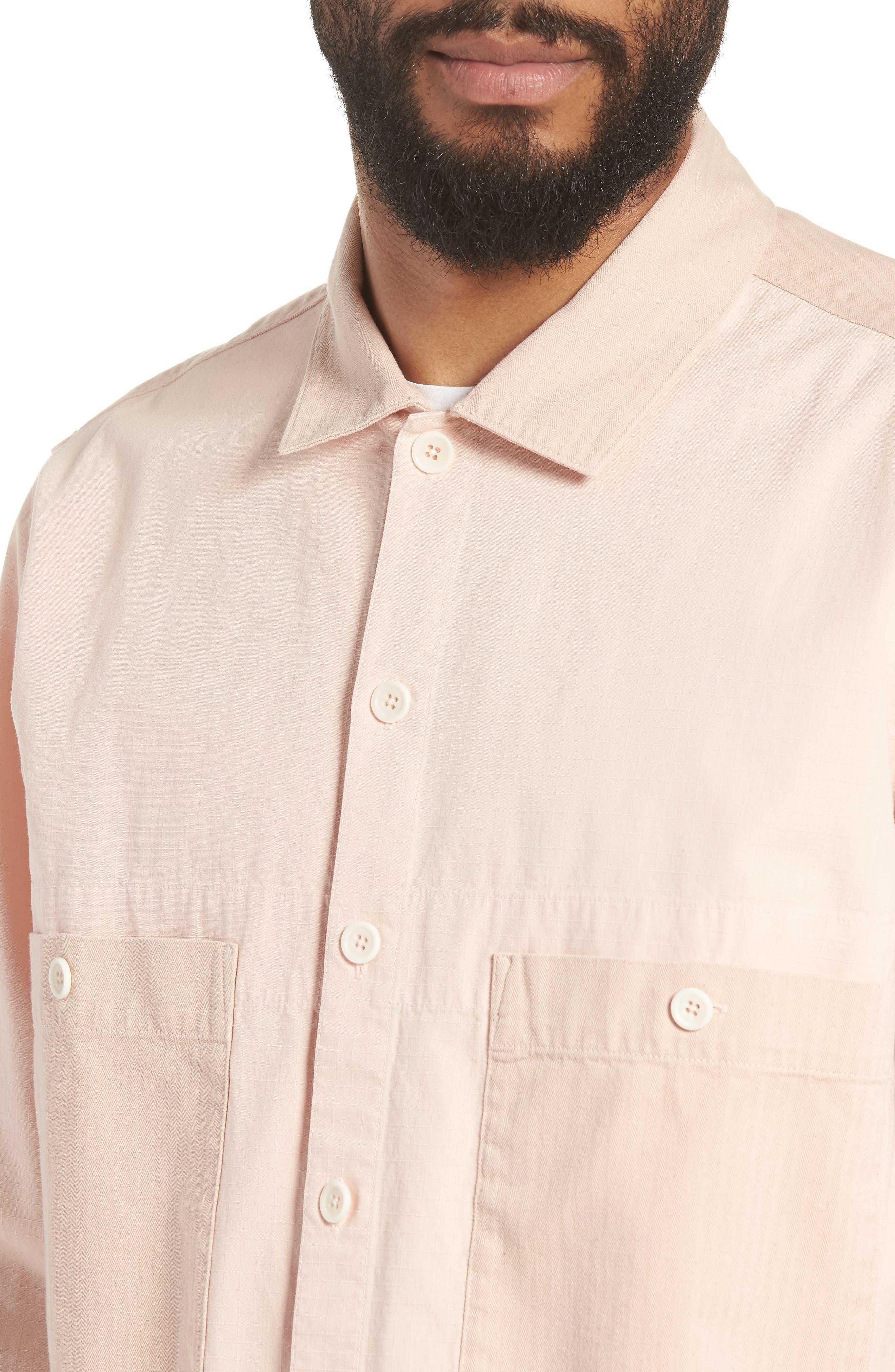Doc Savage Slim Fit Sport Shirt,                             Alternate thumbnail 4, color,