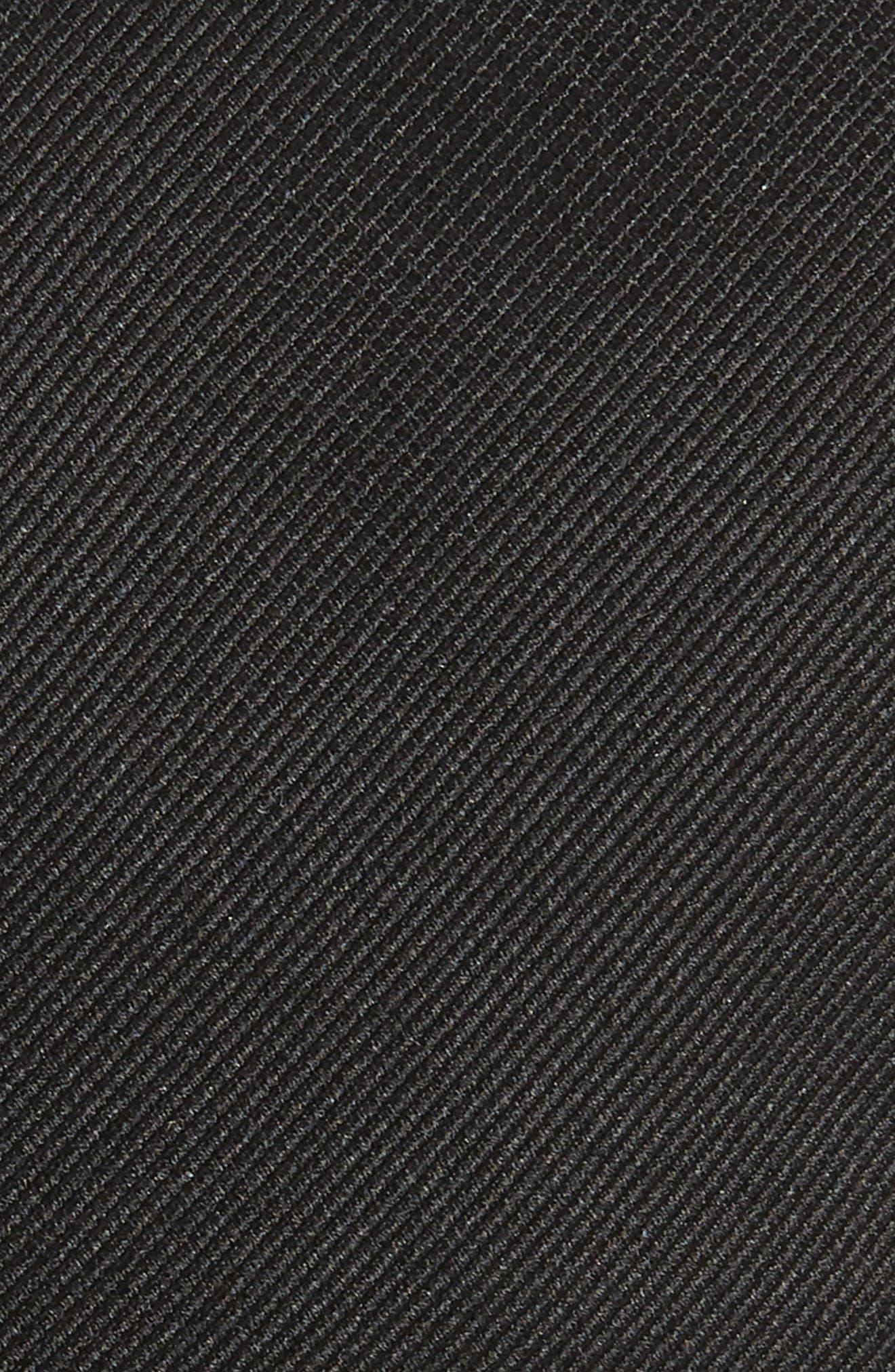 Solid Silk Tie,                             Alternate thumbnail 2, color,                             BLACK