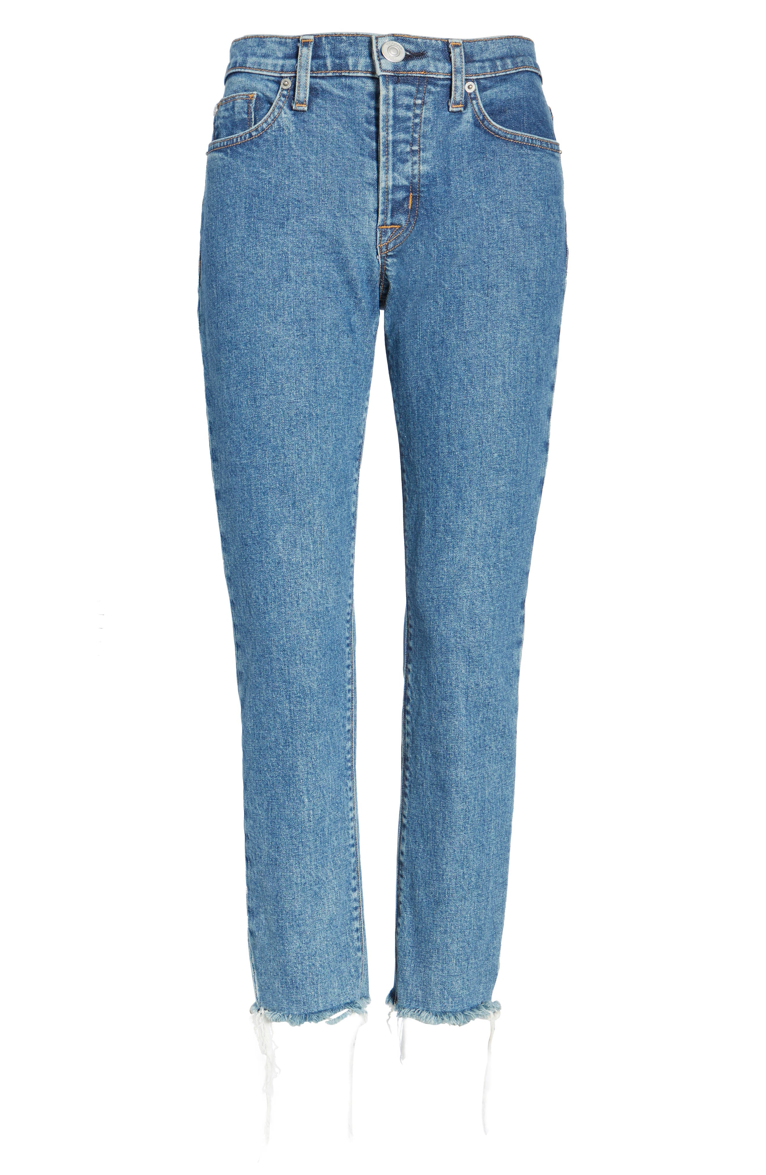 Riley Crop Relaxed Straight Leg Jeans,                             Alternate thumbnail 6, color,                             450