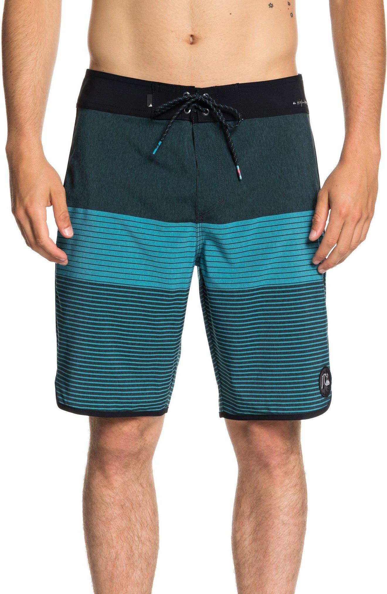 Highline Tijuana Scallop Board Shorts,                         Main,                         color, TYPHOON