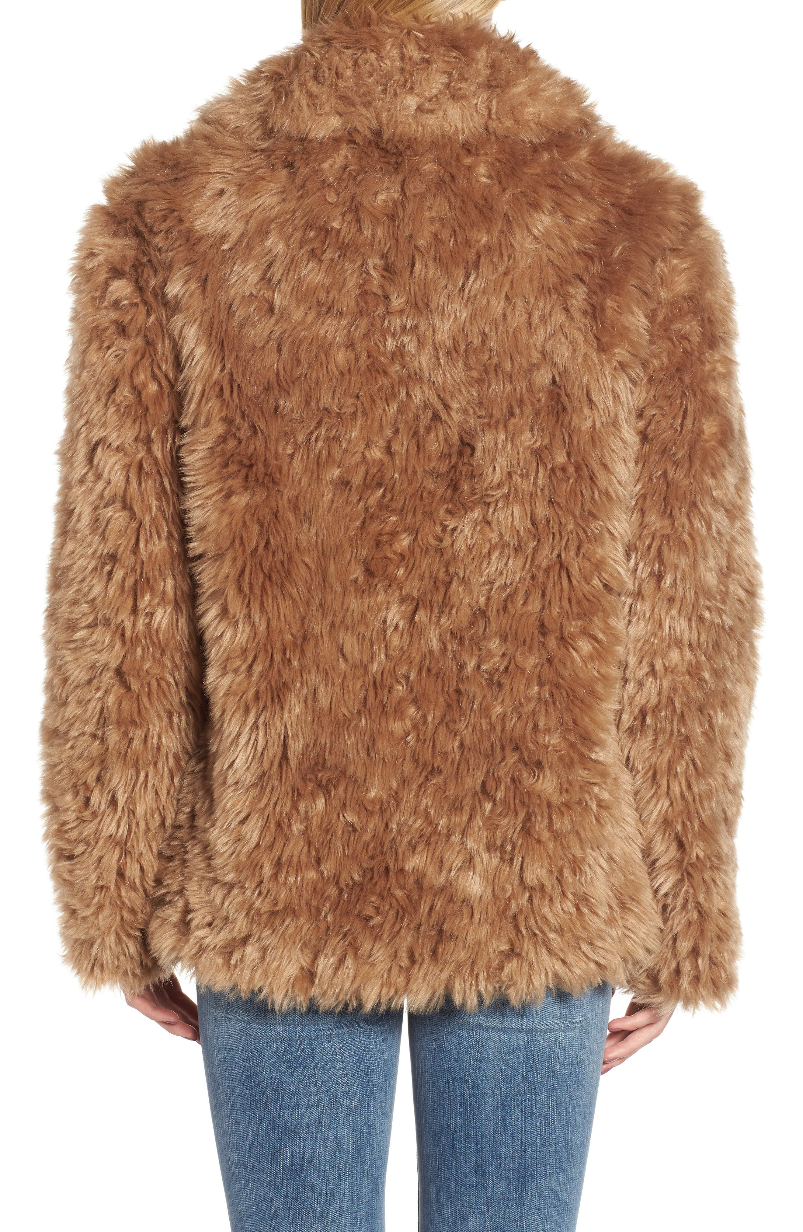 Faux Fur Teddy Coat,                             Alternate thumbnail 2, color,                             260