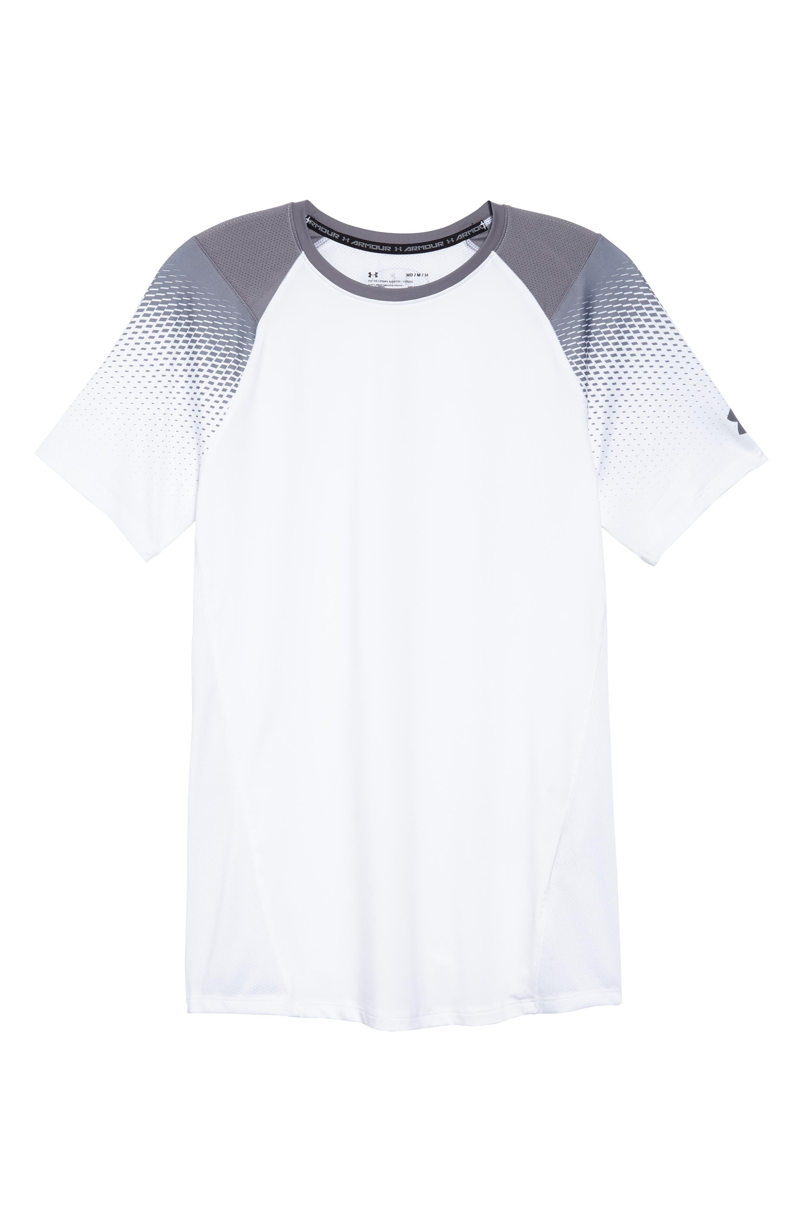 MK1 Dash Print Crewneck T-Shirt,                             Alternate thumbnail 6, color,                             WHITE / ZINC GREH / GRAPHITE