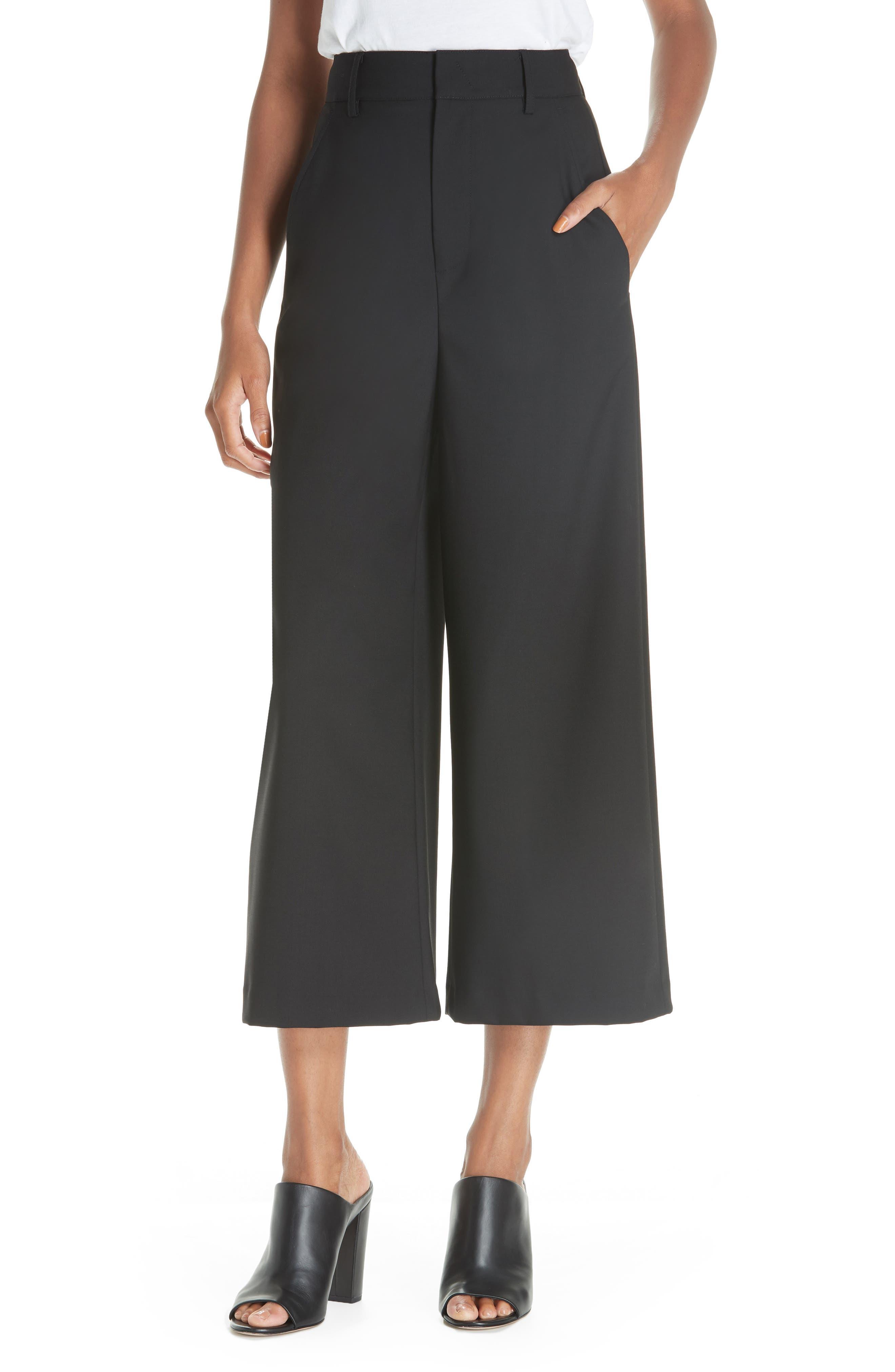 High Rise Wide Leg Crop Pant, Main, color, 001