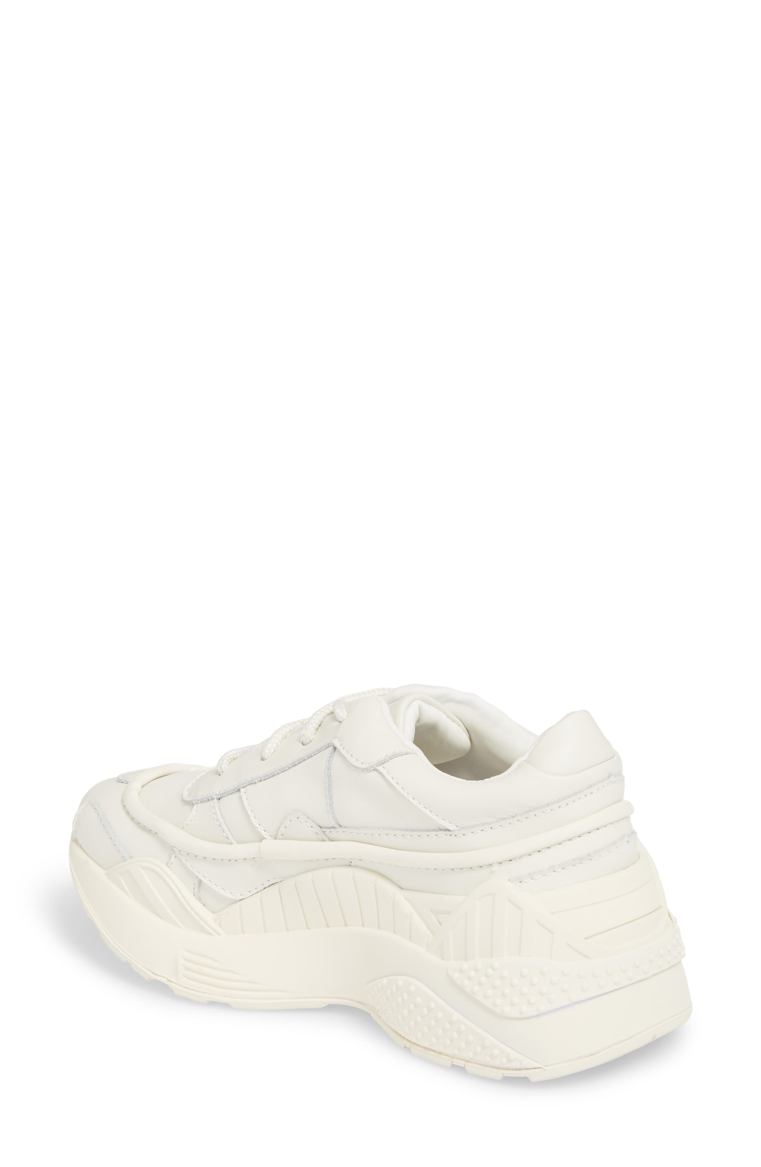 HMDI Platform Sneaker,                             Alternate thumbnail 2, color,                             WHITE LEATHER