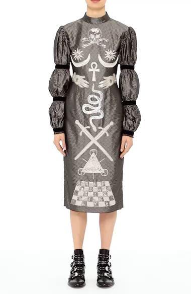 Alien Goddess Embellished Silk Dress, video thumbnail