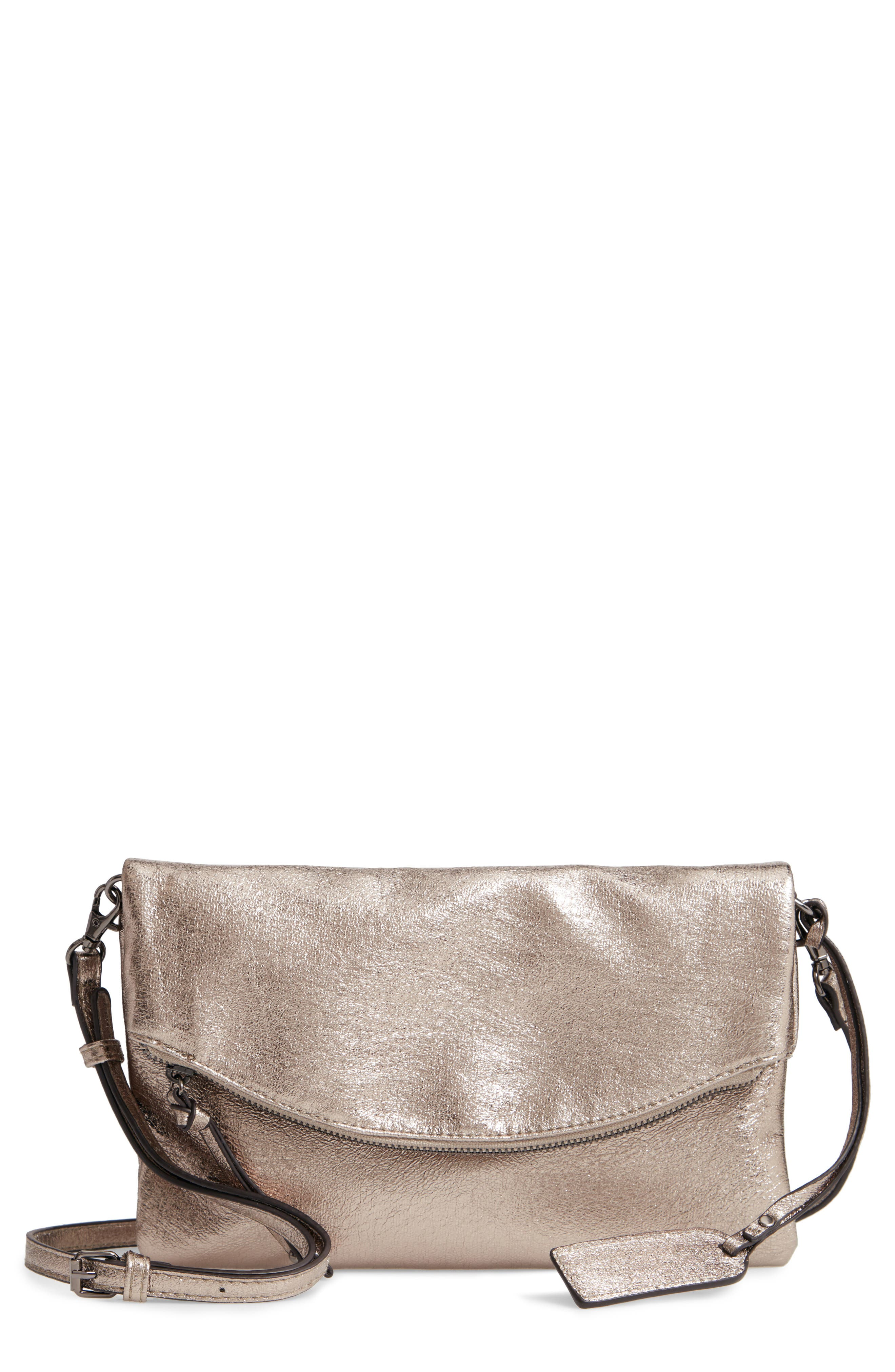 Missa Metallic Clutch,                         Main,                         color, PEWTER