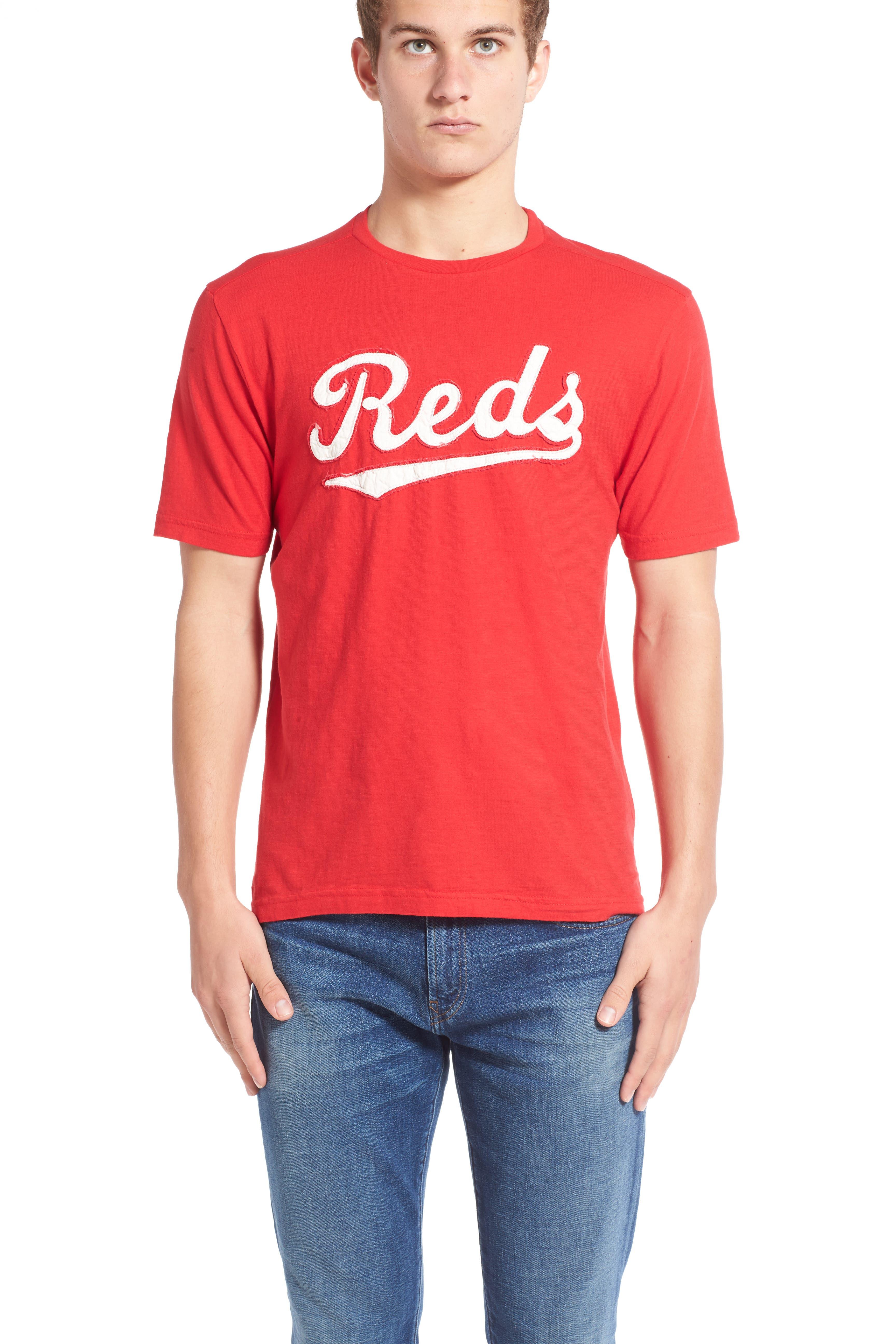 'Cincinnati Reds - Twofold' Crewneck T-Shirt,                             Alternate thumbnail 3, color,                             600