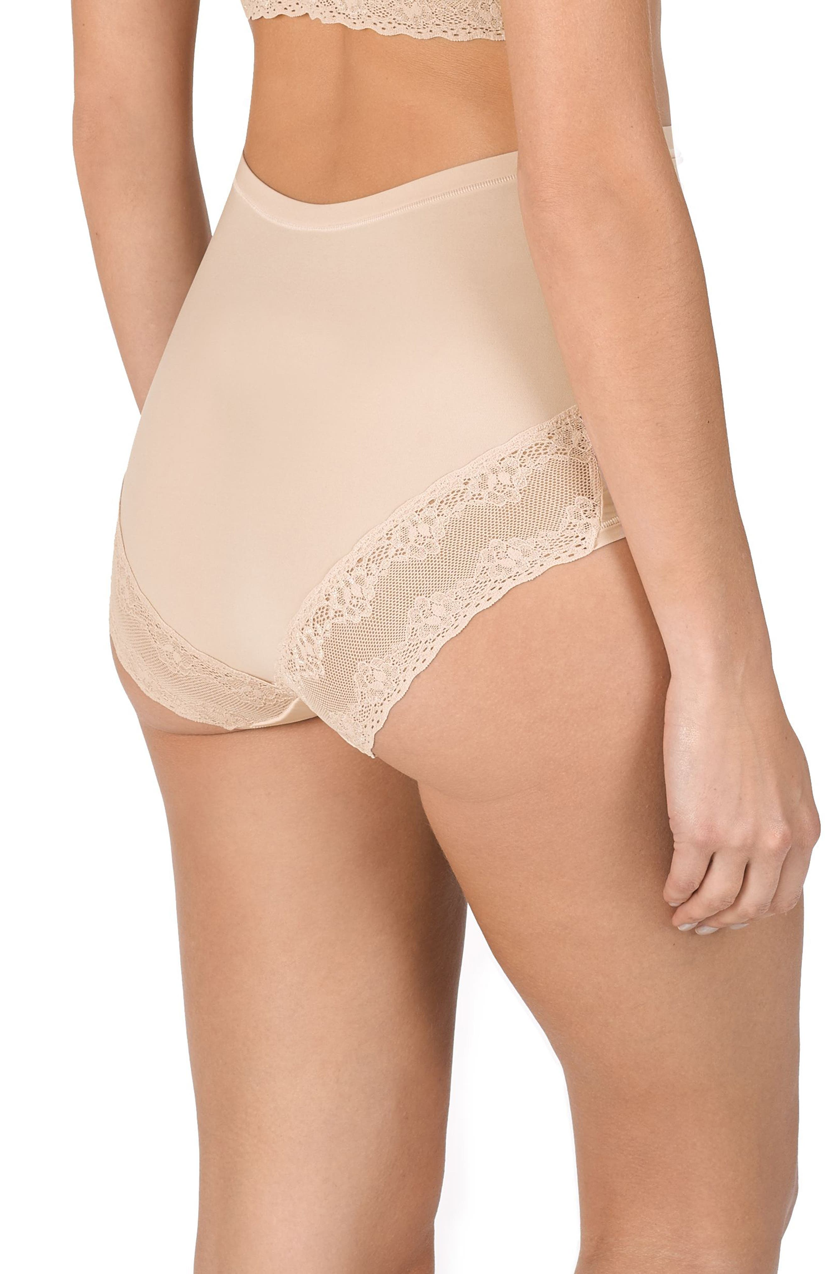 Bliss Maternity Briefs,                             Alternate thumbnail 3, color,                             CAMEO ROSE