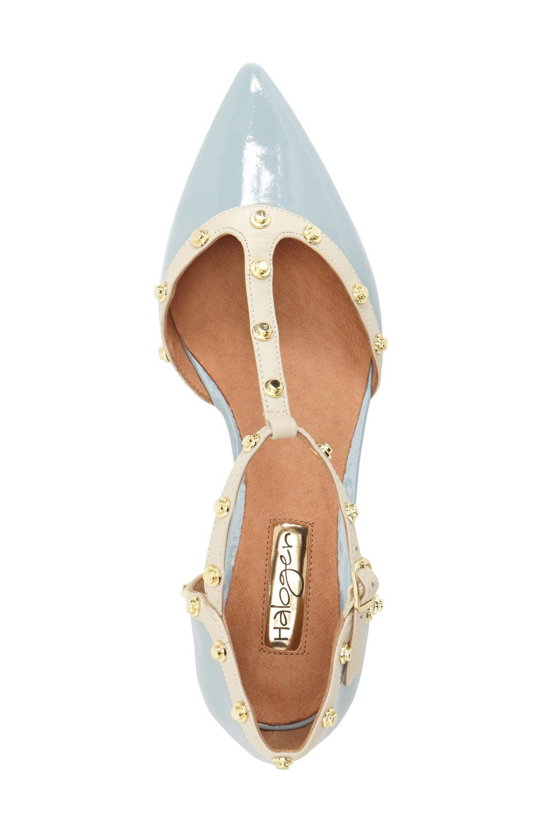 'Olson' Pointy Toe Studded T-Strap Flat,                             Alternate thumbnail 63, color,