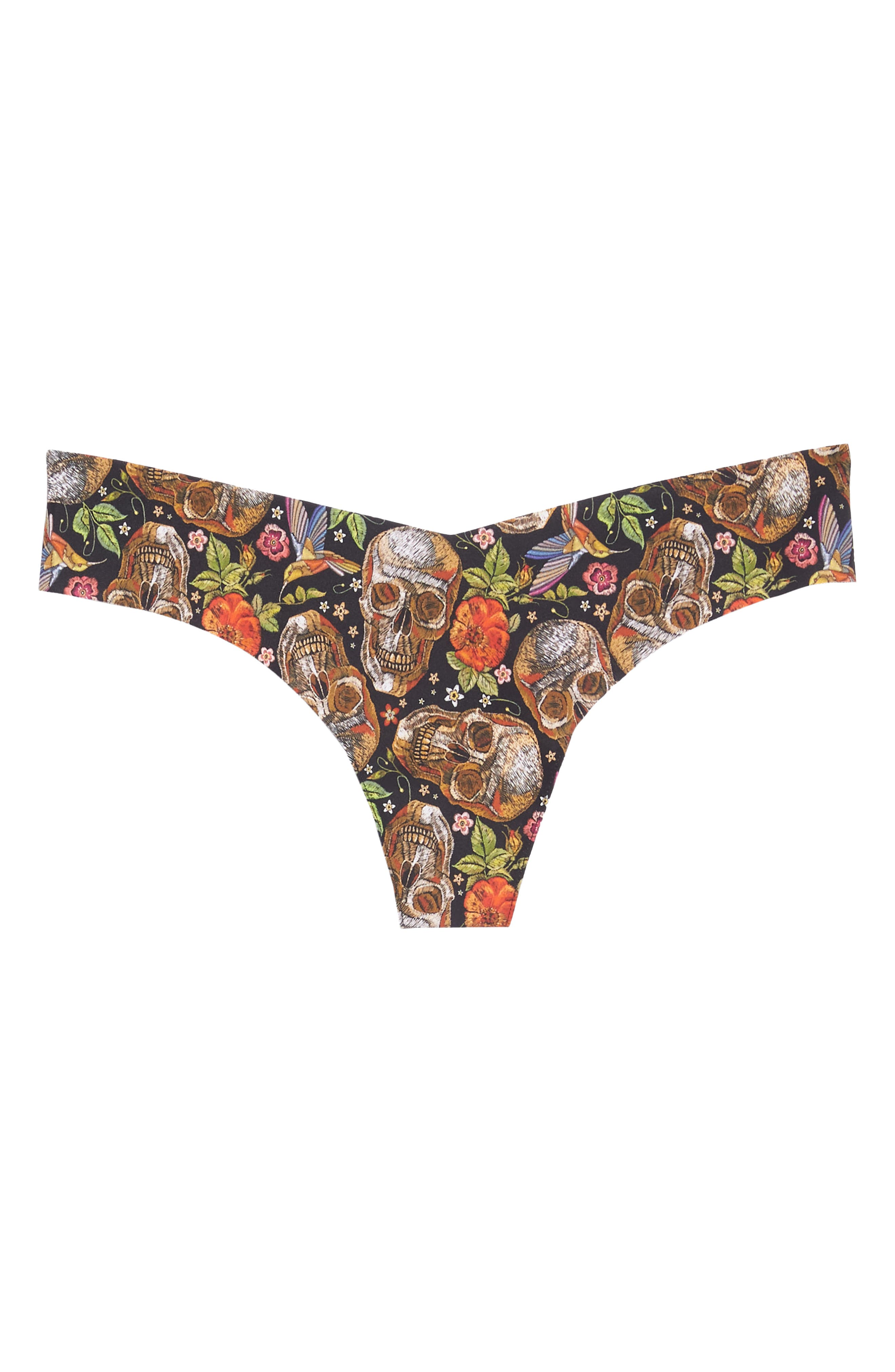 Print Microfiber Thong,                             Alternate thumbnail 348, color,