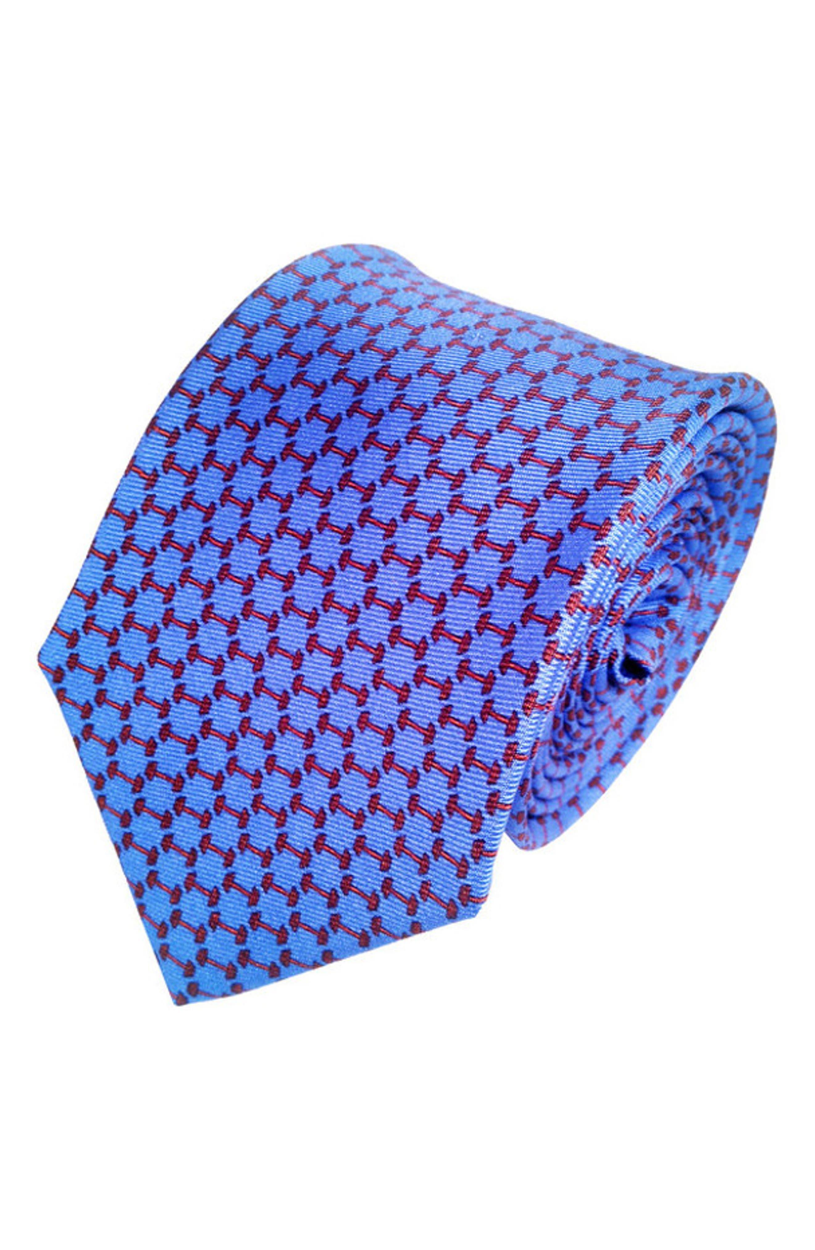 Lift Silk Tie,                         Main,                         color, BLUE