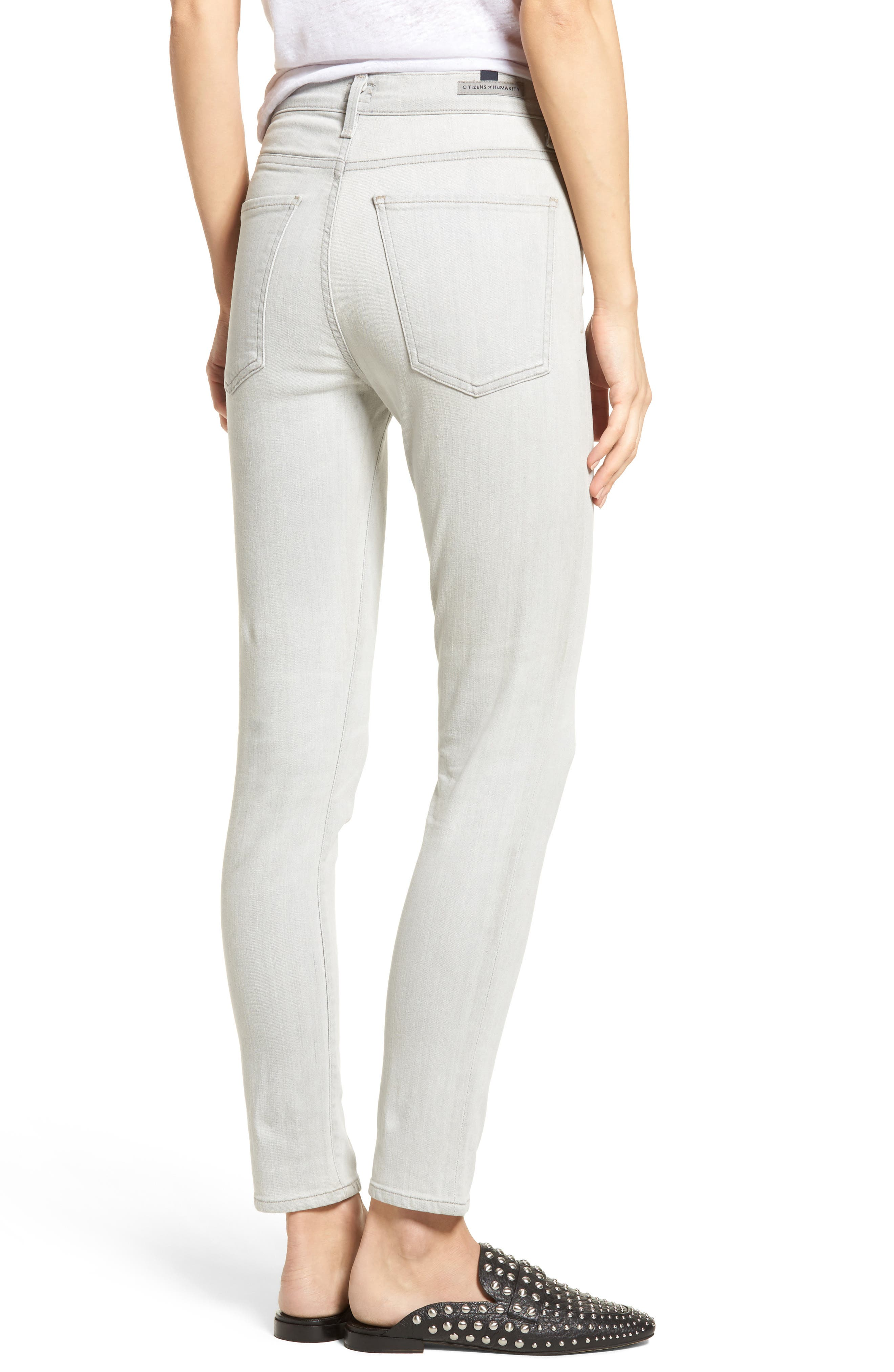 Carlie High Waist Ankle Skinny Jeans,                             Alternate thumbnail 2, color,                             055