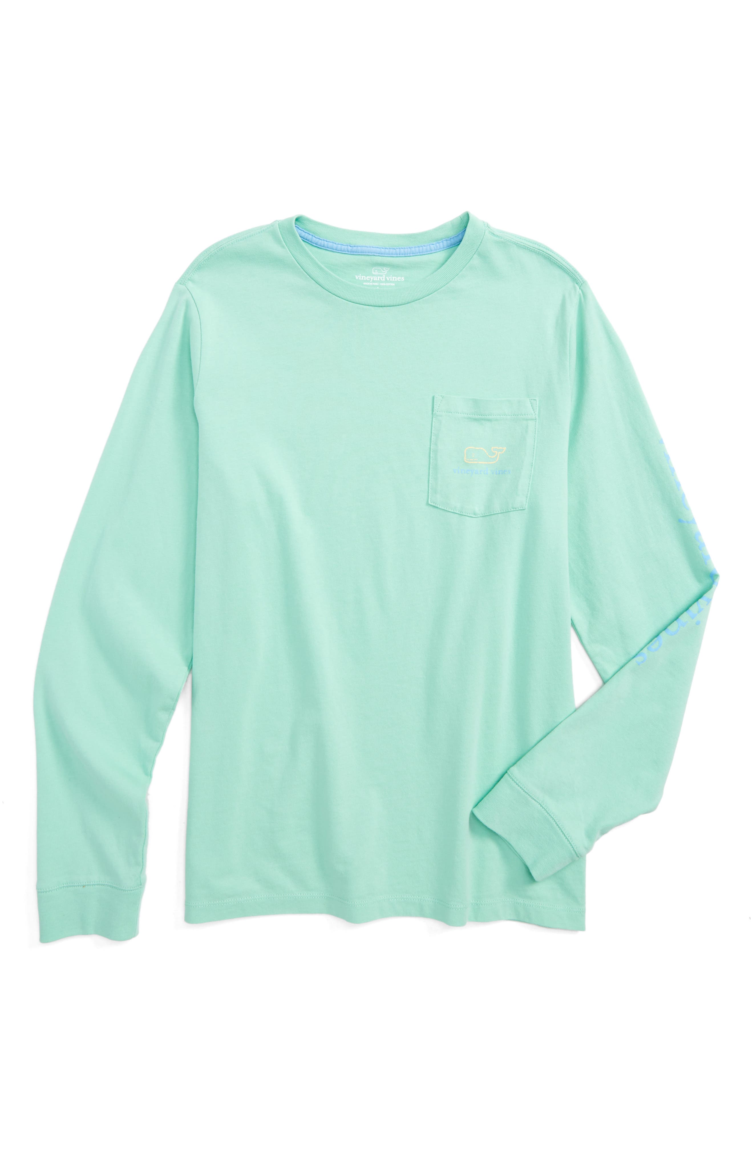 Vintage Whale Long Sleeve Pocket T-Shirt,                             Main thumbnail 1, color,                             343