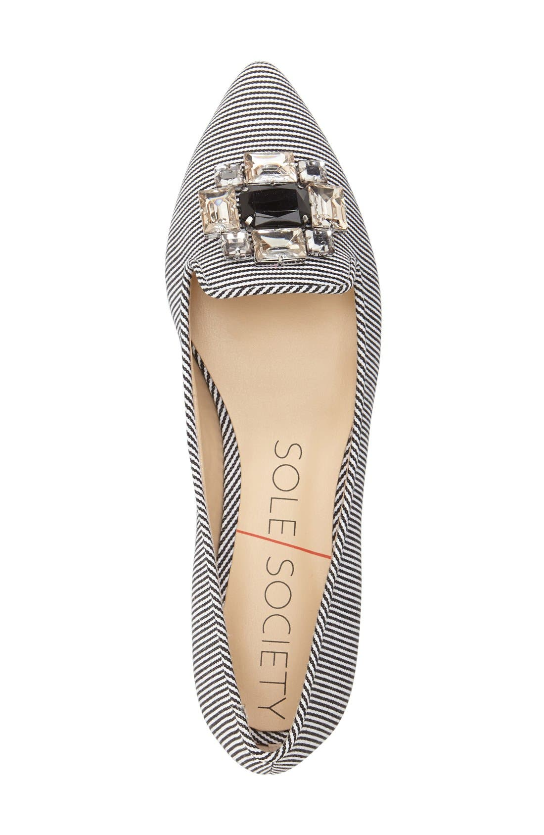 'Libry' Embellished Pointy Toe Flat,                             Alternate thumbnail 2, color,                             001