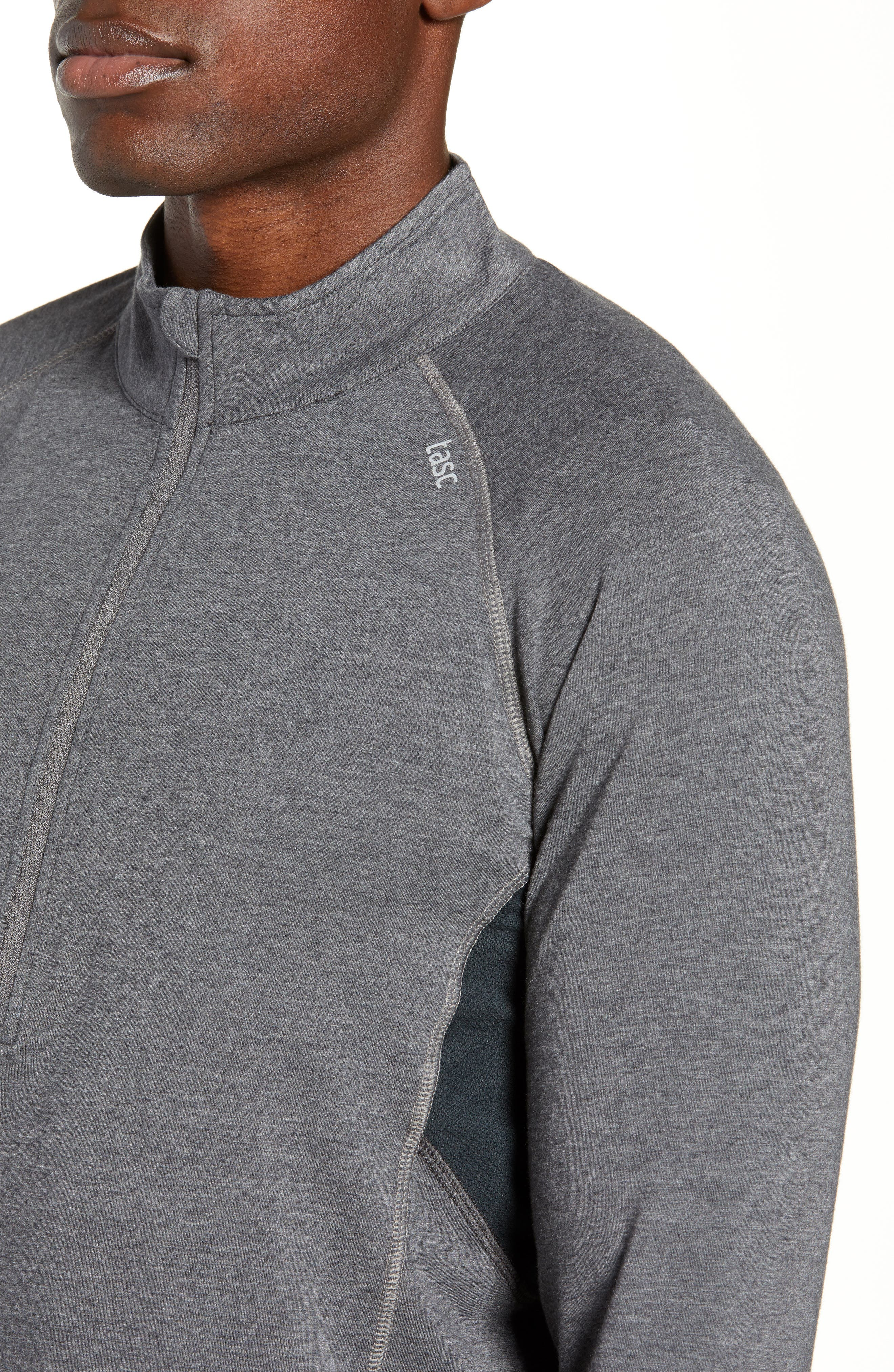 Charge II Half Zip Pullover,                             Alternate thumbnail 4, color,                             BLACK HEATHER