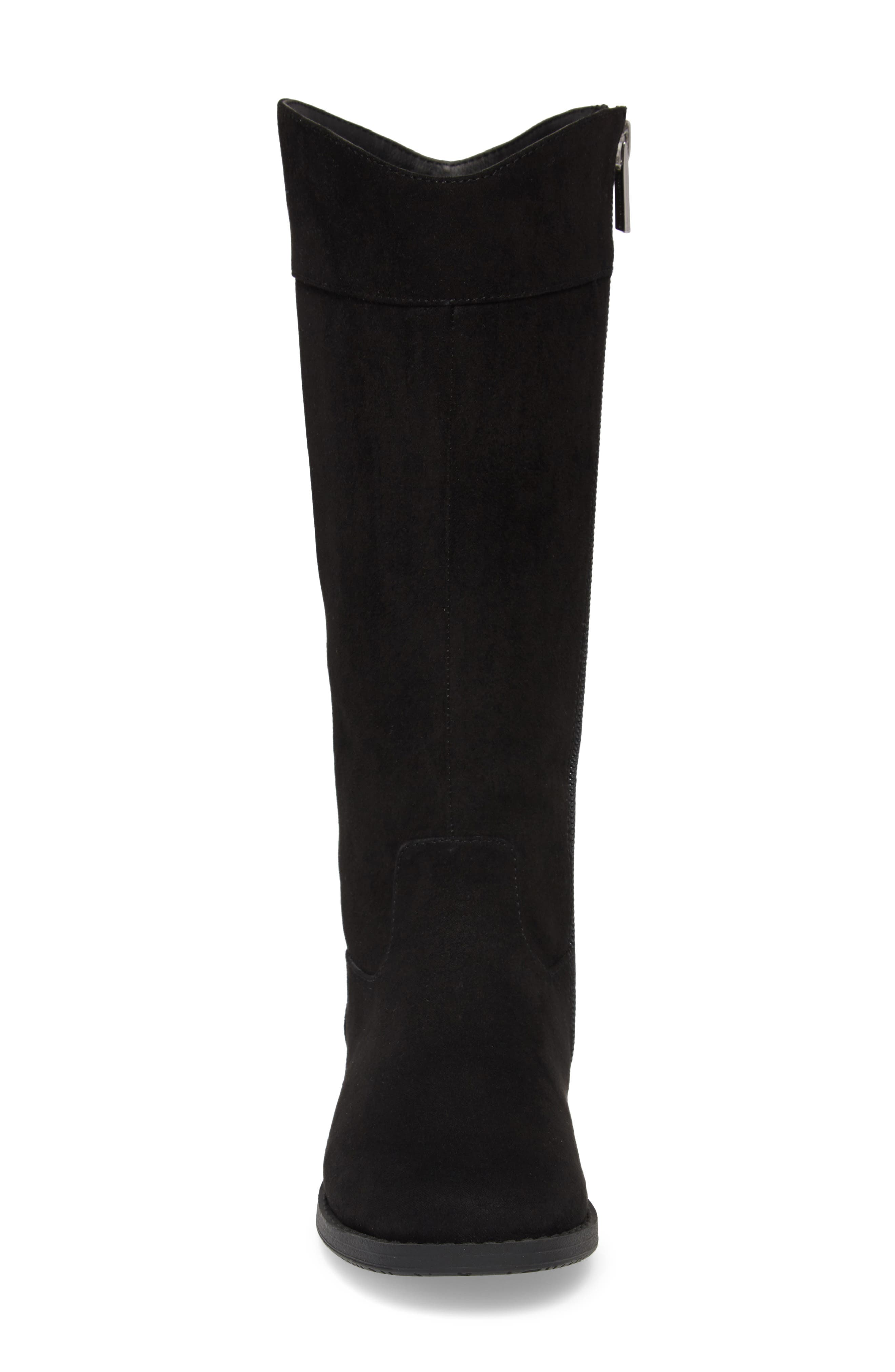 Kenneth Cole Collection Kennedy Bow Boot,                             Alternate thumbnail 4, color,                             BLACK