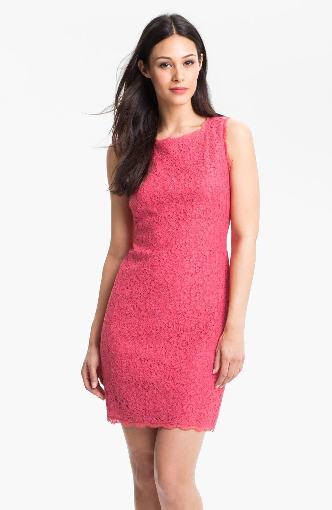 Boatneck Lace Sheath Dress,                             Main thumbnail 32, color,