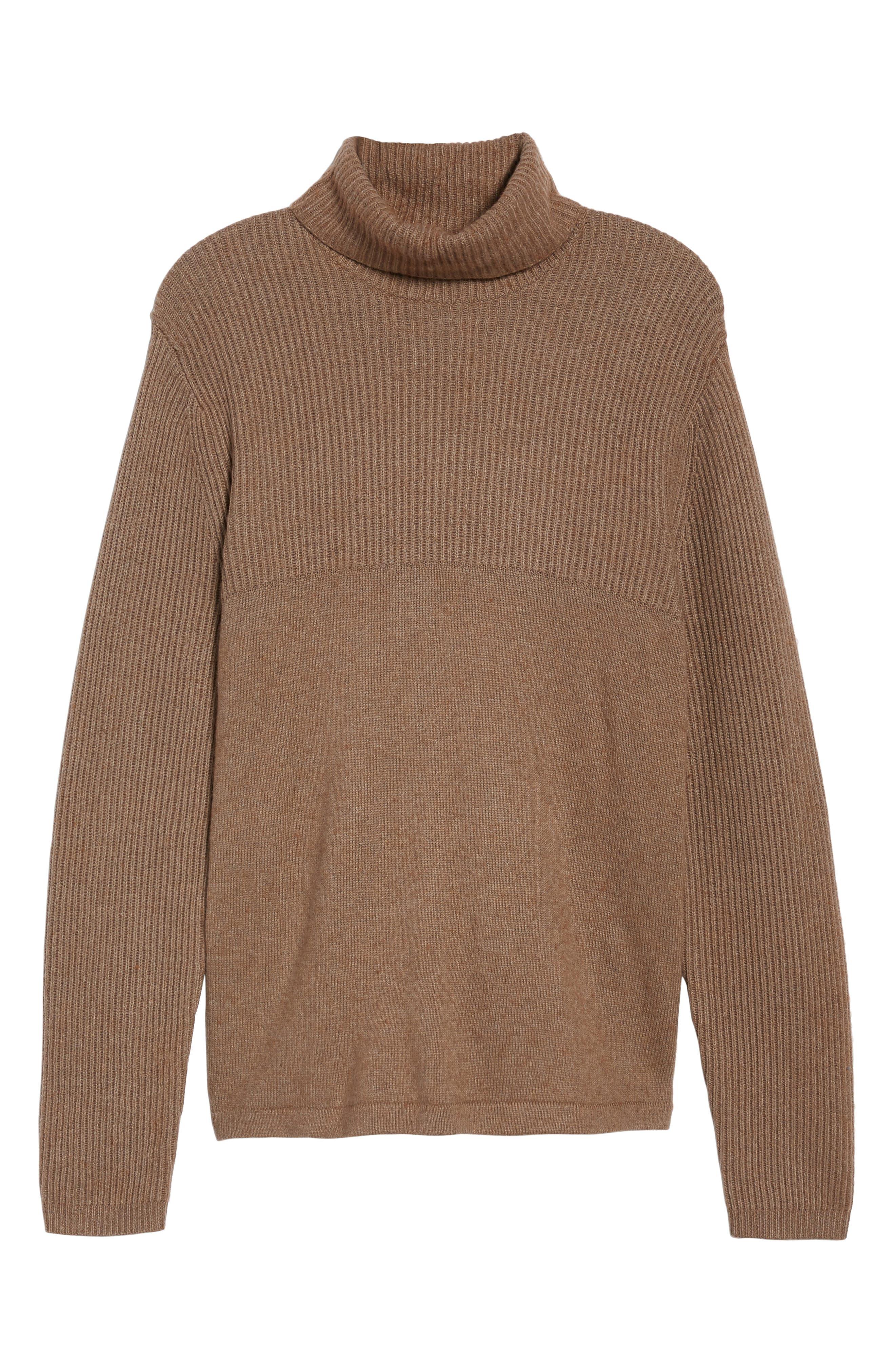 Mix Stitch Turtleneck Sweater,                             Alternate thumbnail 6, color,                             261
