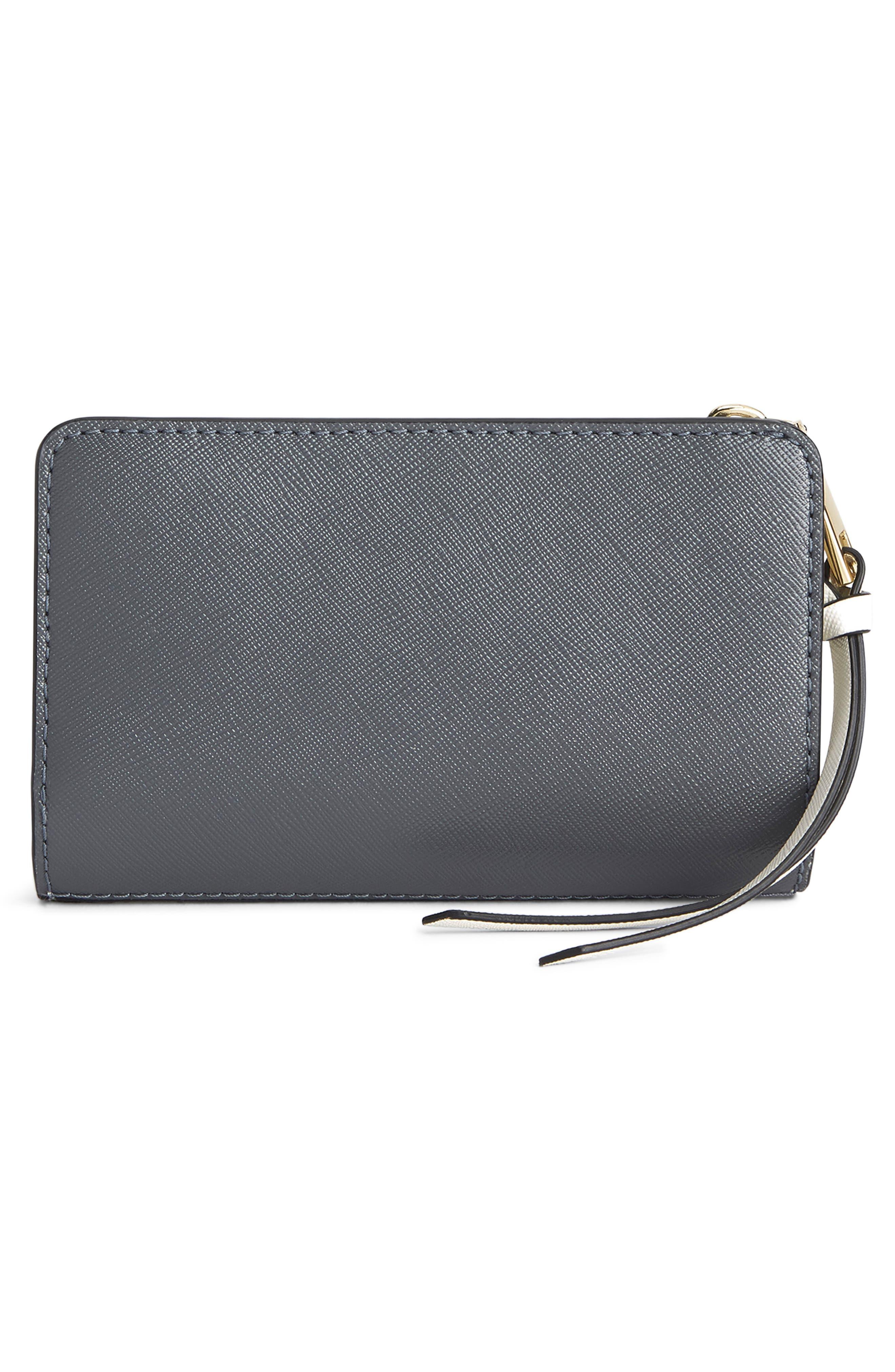 Snapshot Leather Compact Wallet,                             Alternate thumbnail 3, color,                             BLACK MULTI