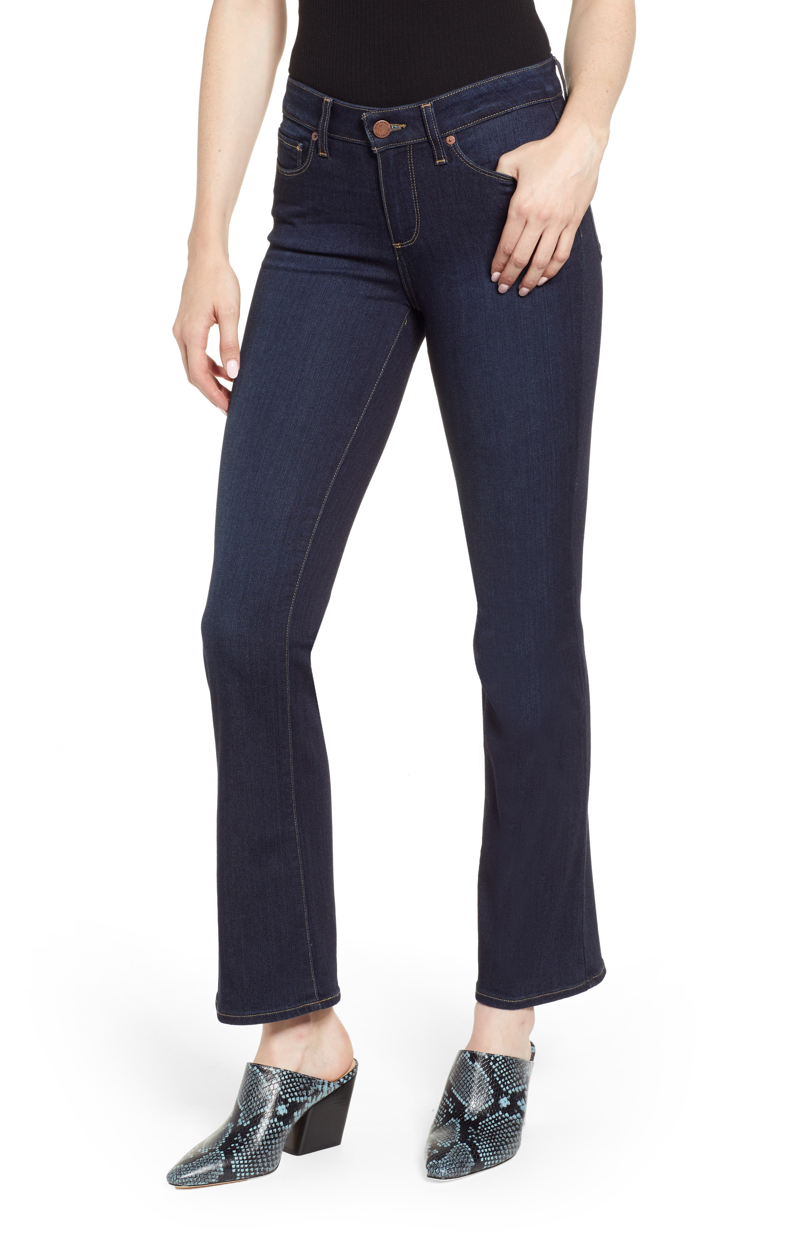 Transcend - Manhattan High Waist Bootcut Jeans,                         Main,                         color, SANIA