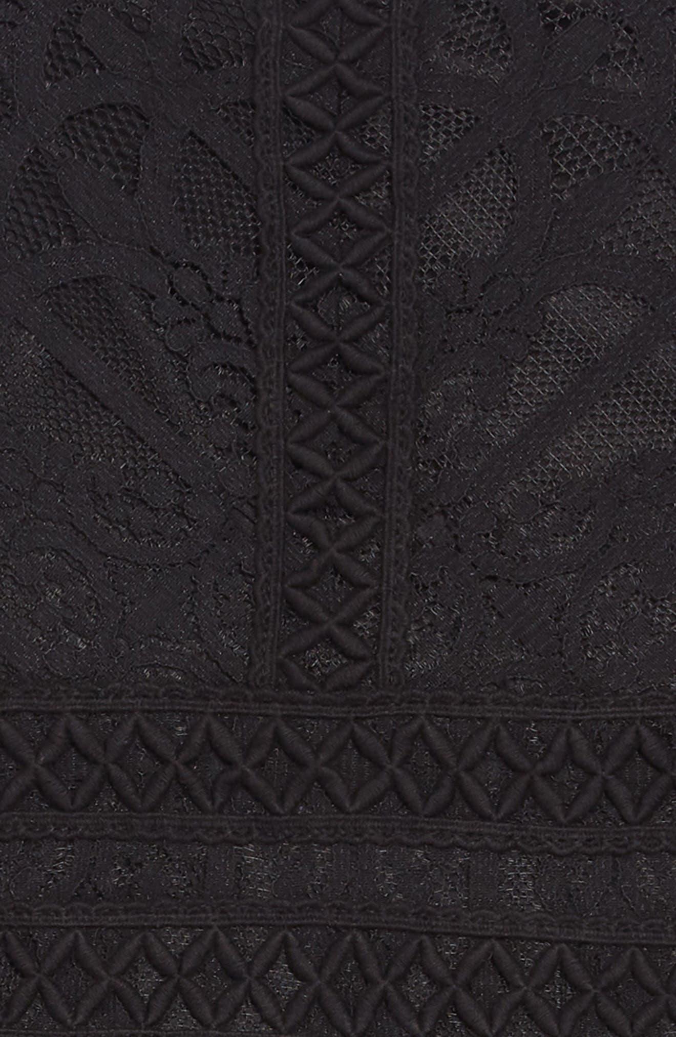Sleeveless Tulle Dress,                             Alternate thumbnail 3, color,                             BLACK