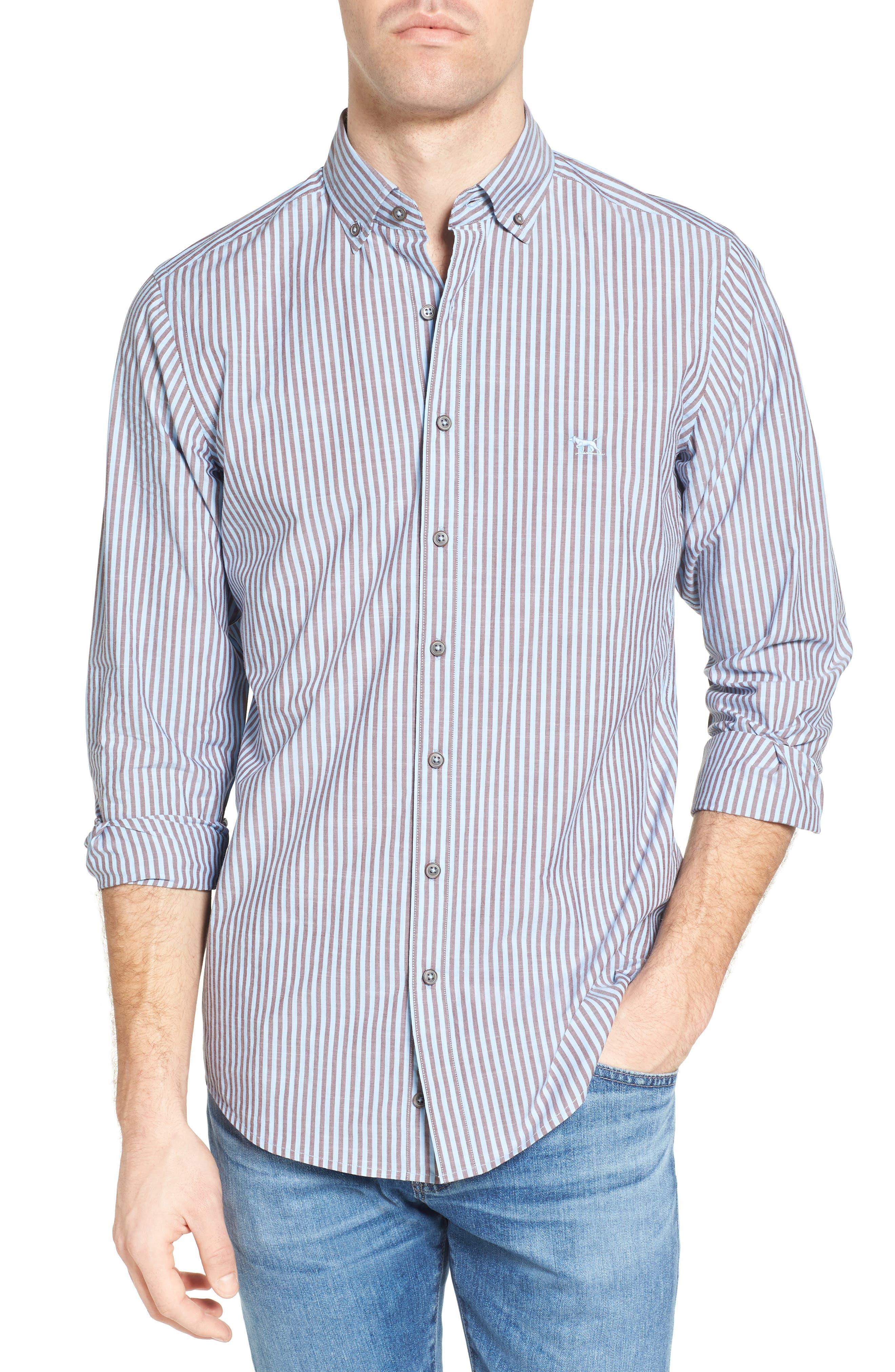 Fitzroy Stripe Sport Shirt,                         Main,                         color, 456