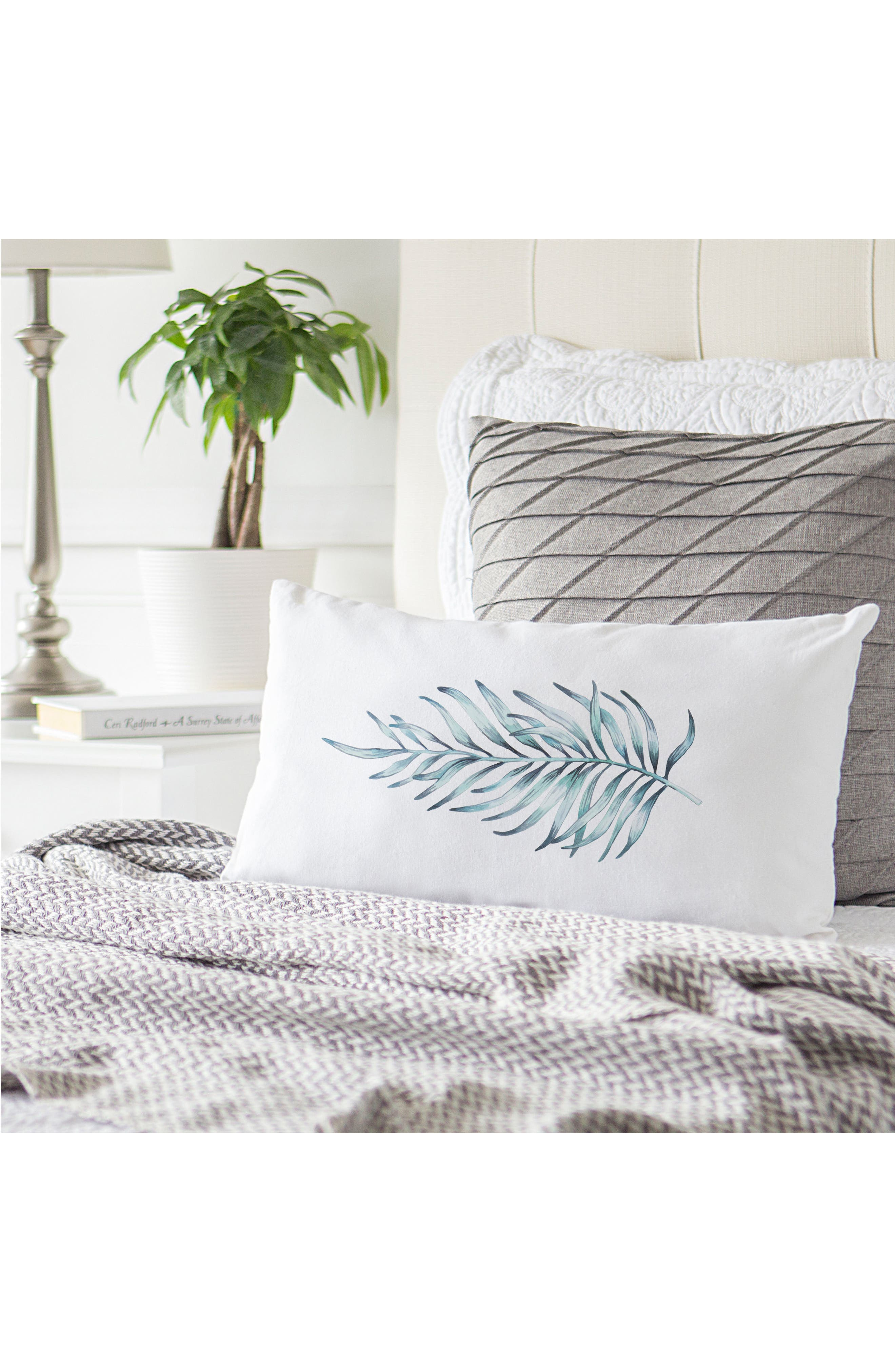 Palm Leaf Lumbar Accent Pillow,                             Alternate thumbnail 6, color,                             300