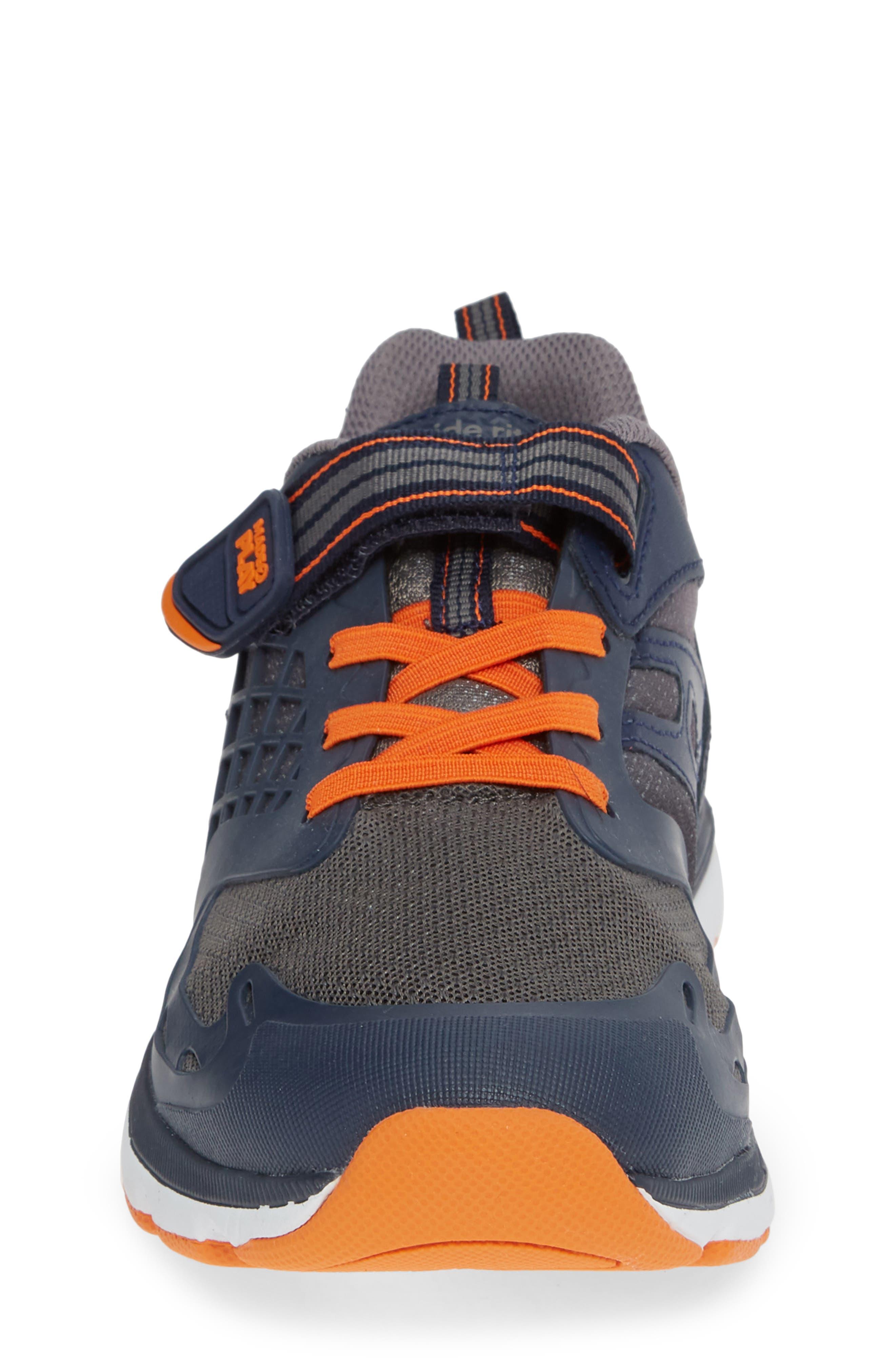 Made 2 Play Breccen Sneaker,                             Alternate thumbnail 4, color,                             NAVY/ ORANGE