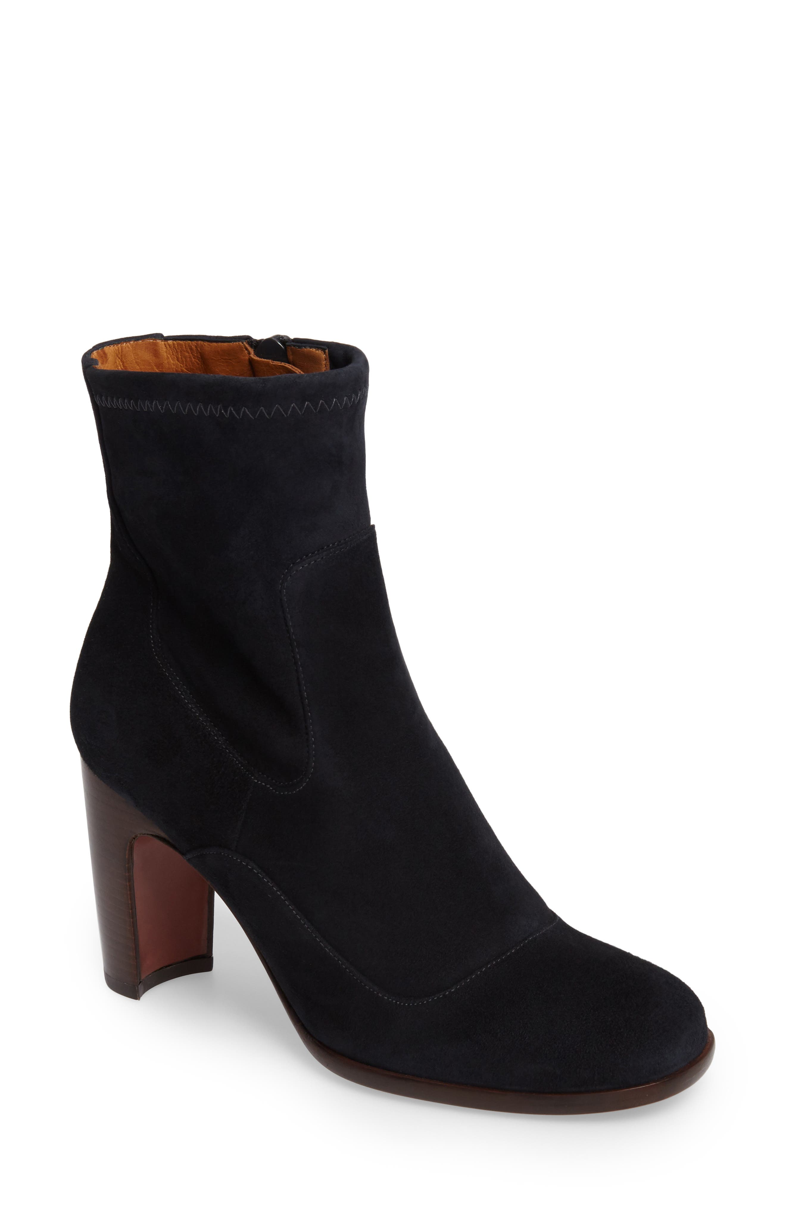 CHIE MIHARA,                             Etiel Round Toe Bootie,                             Main thumbnail 1, color,                             400