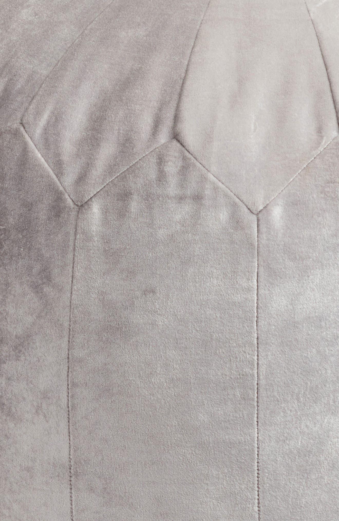 Shimmer Velvet Pouf,                             Alternate thumbnail 3, color,