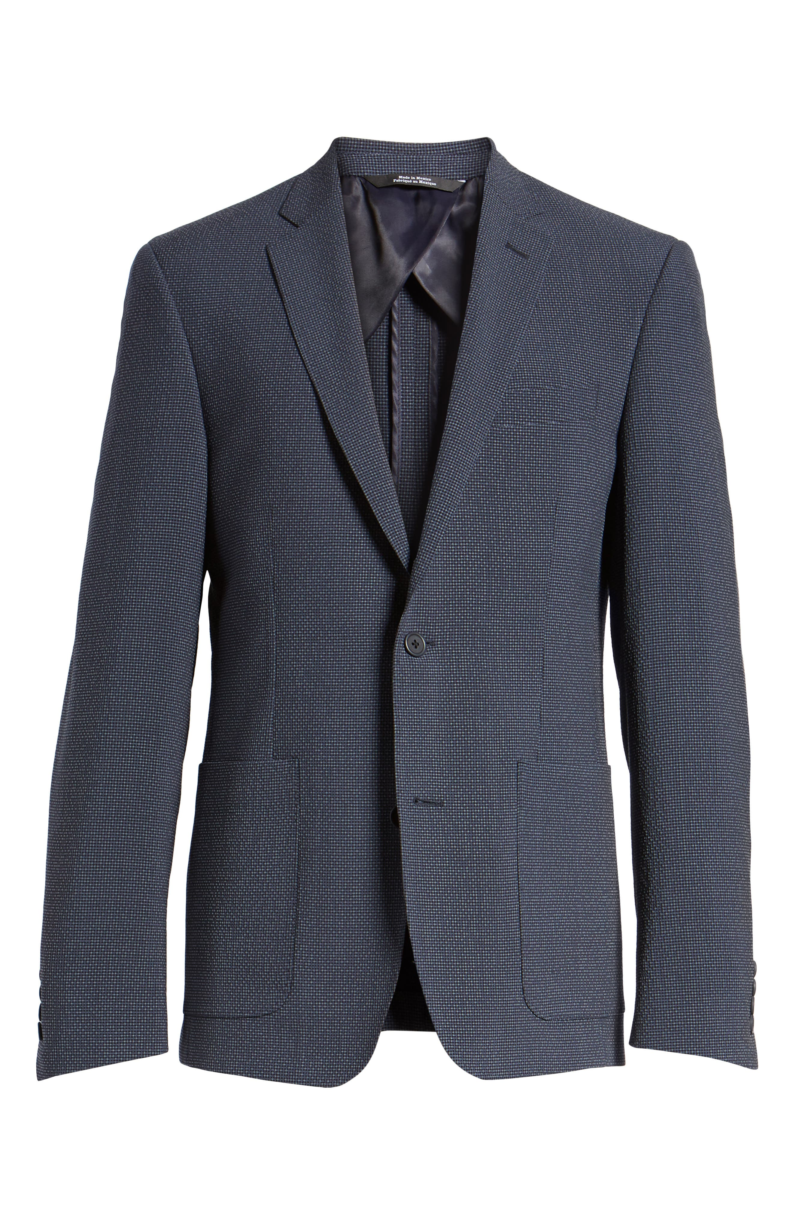 Trim Fit Seersucker Wool Blend Sport Coat,                             Alternate thumbnail 10, color,