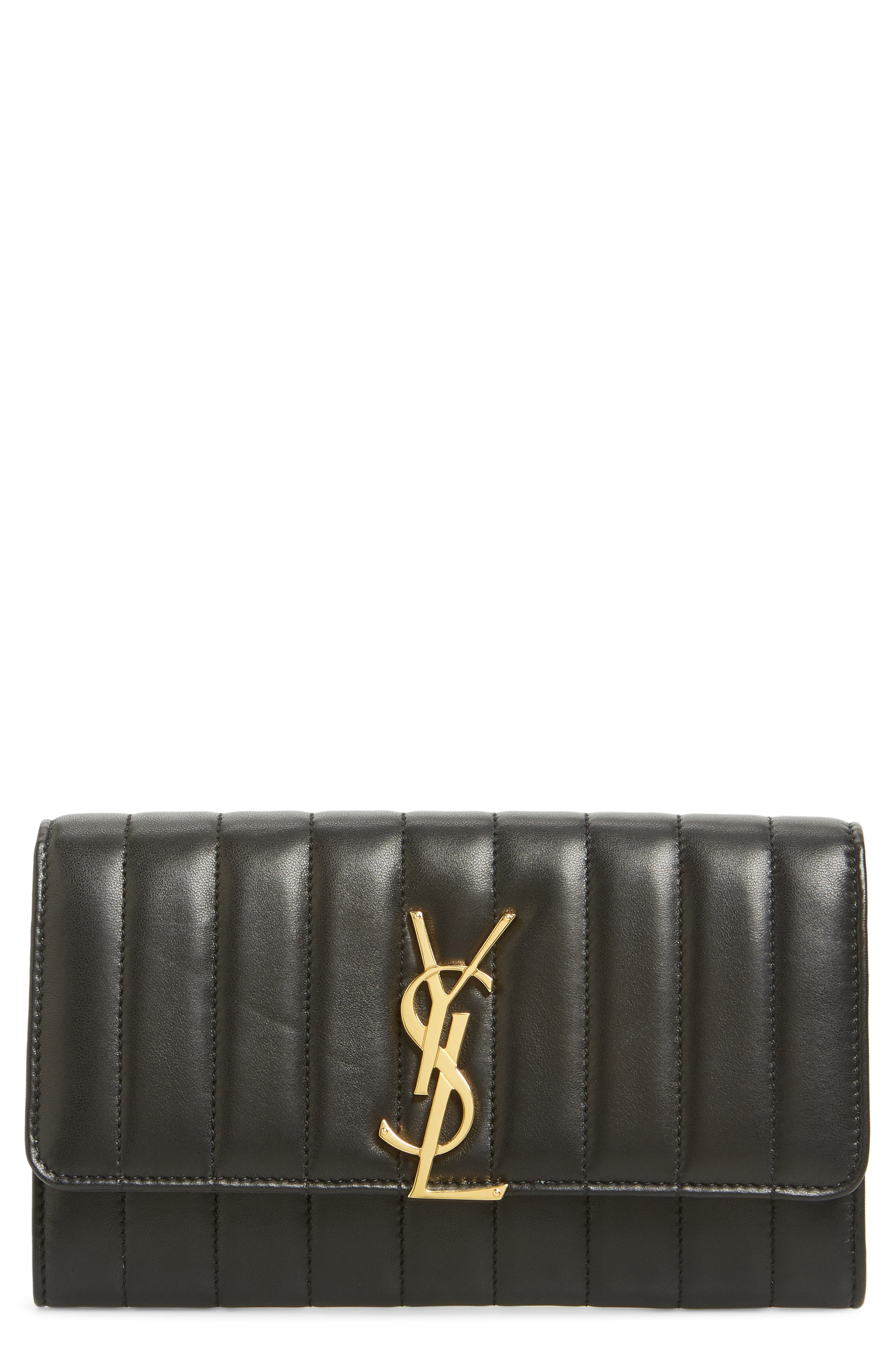 Vicky Large Continental Wallet,                         Main,                         color, NOIR