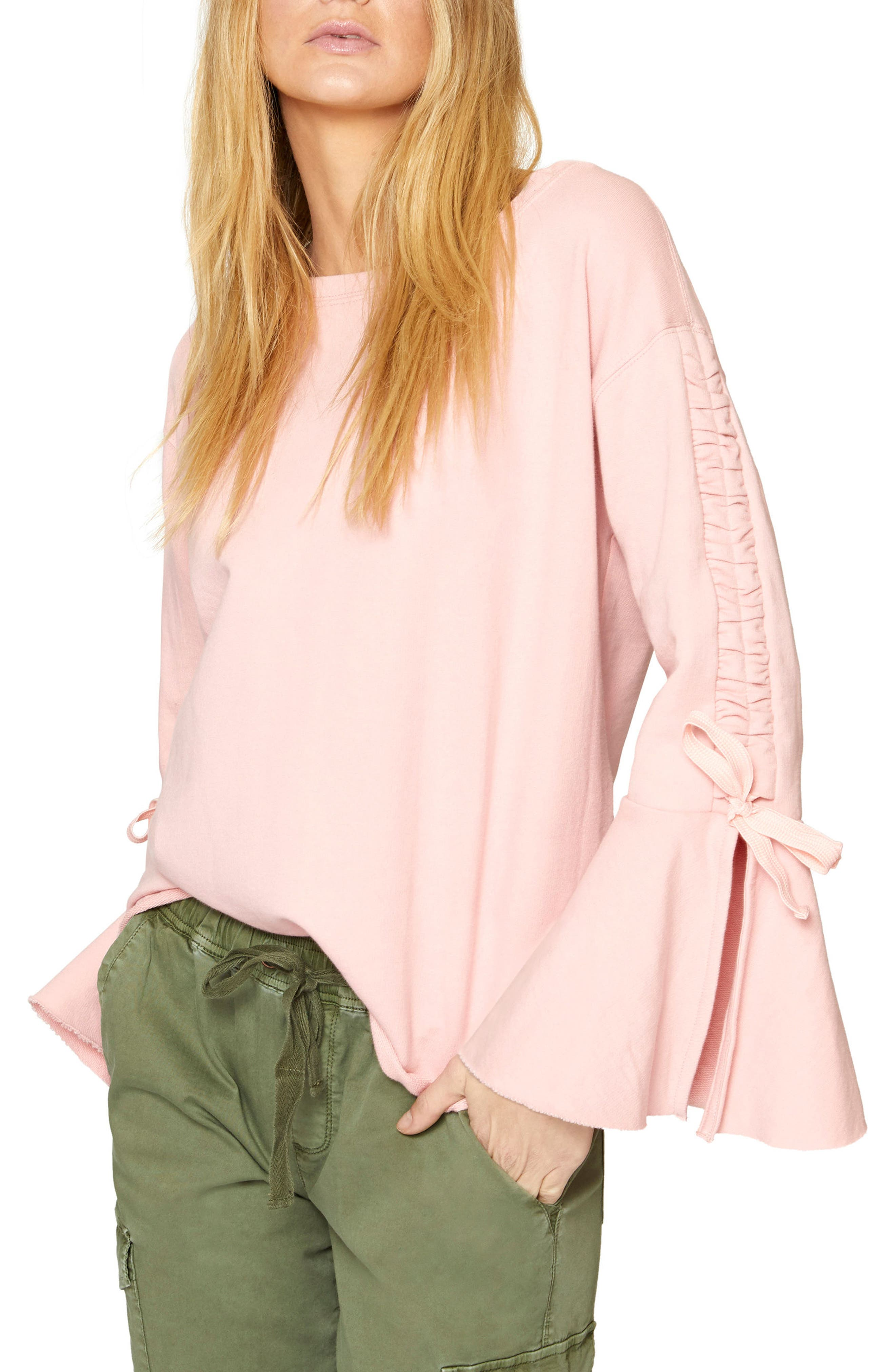 Upper West Bell Sleeve Sweatshirt,                             Main thumbnail 5, color,
