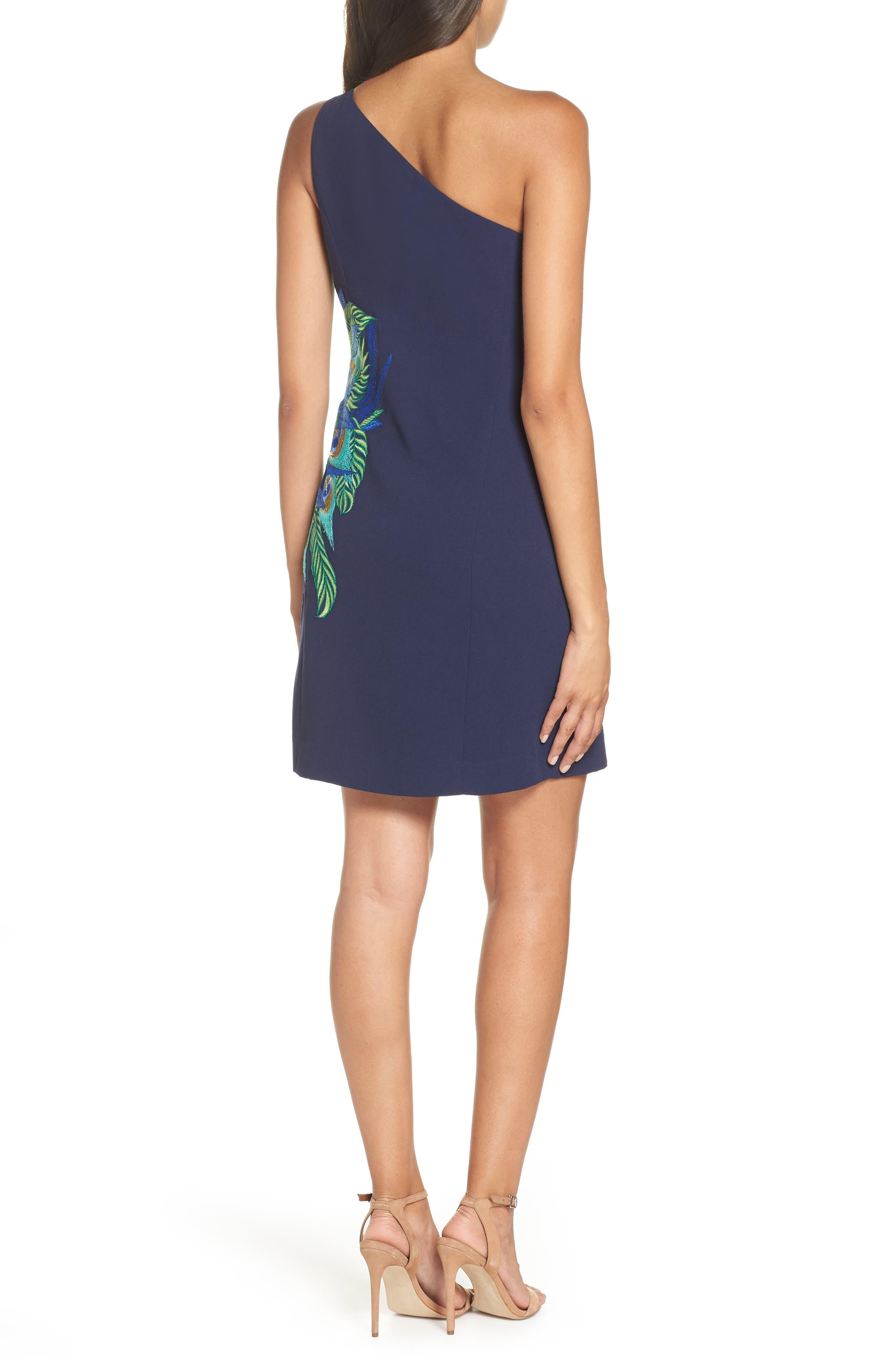 Lily Pulitzer<sup>®</sup> Jamie One-Shoulder Dress,                             Alternate thumbnail 2, color,                             TRUE NAVY